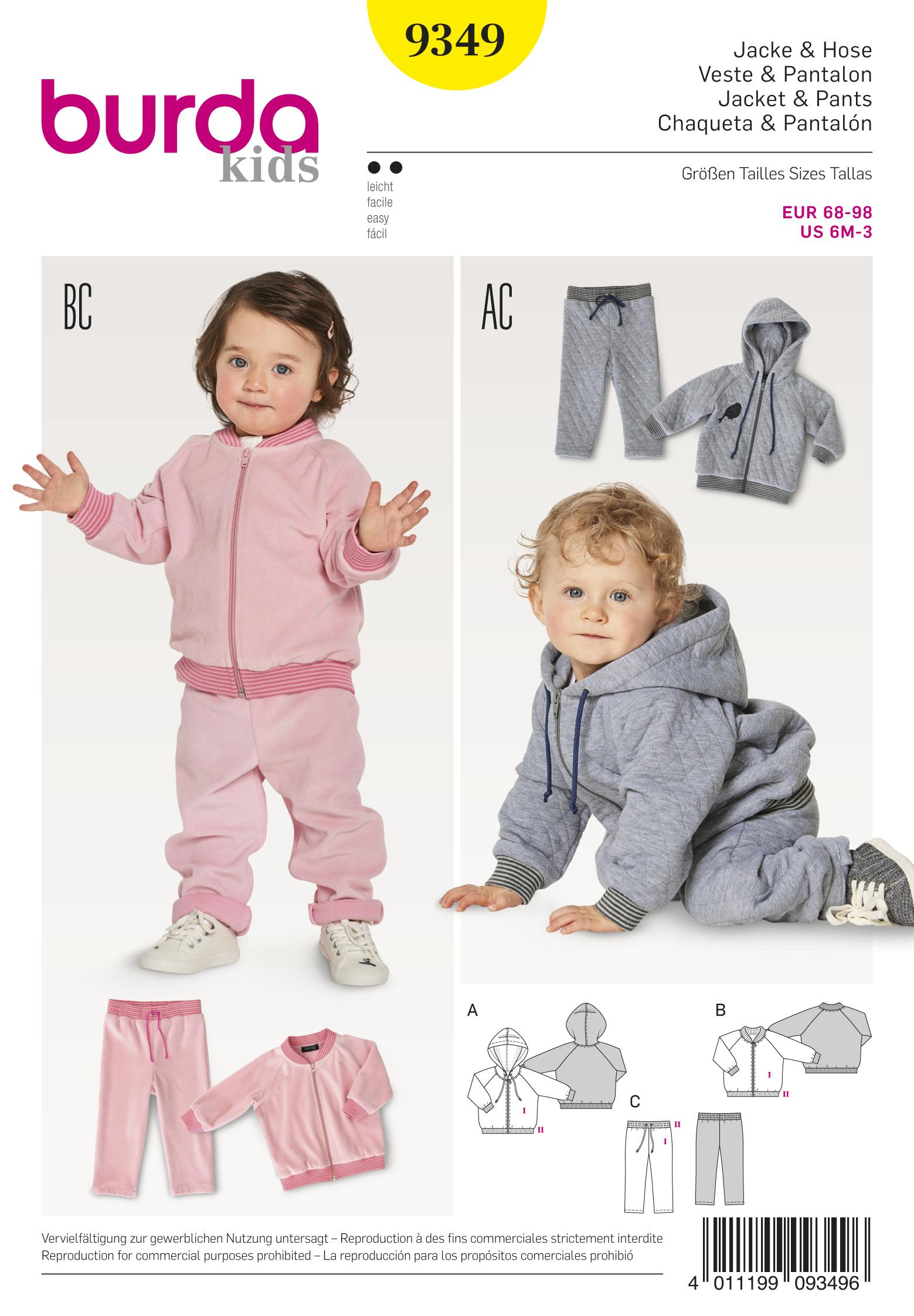Burda B9349 Baby's Jogging Suit