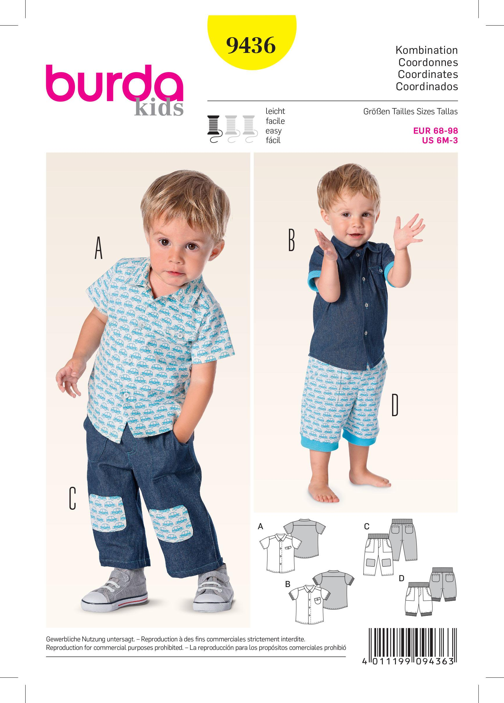 Burda B9436 Burda Baby Sewing Pattern