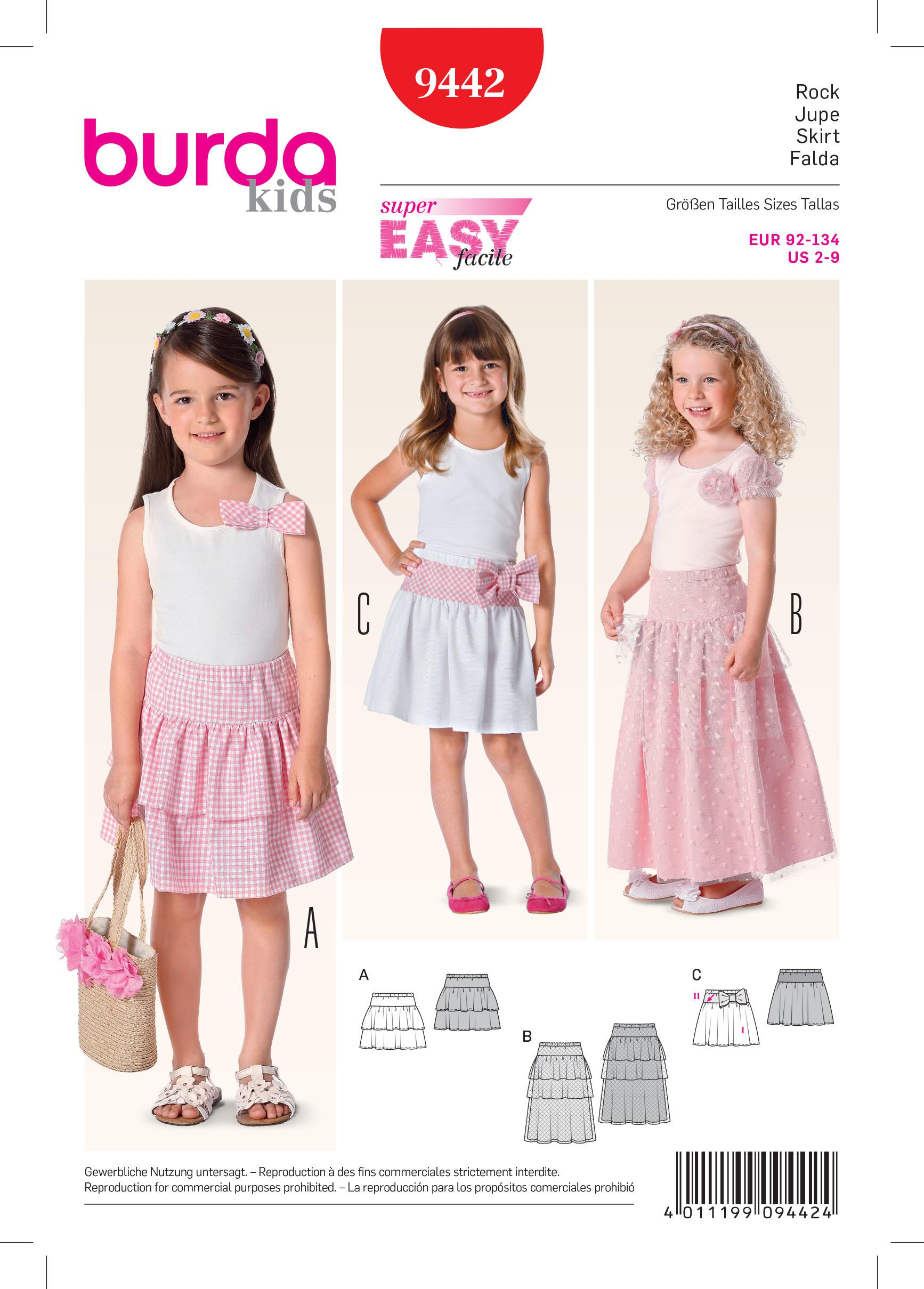 Burda B9442 Burda Children Sewing Pattern