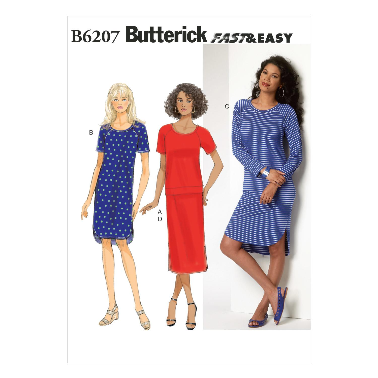Butterick B6207 Misses' Top, Dress and Skirt