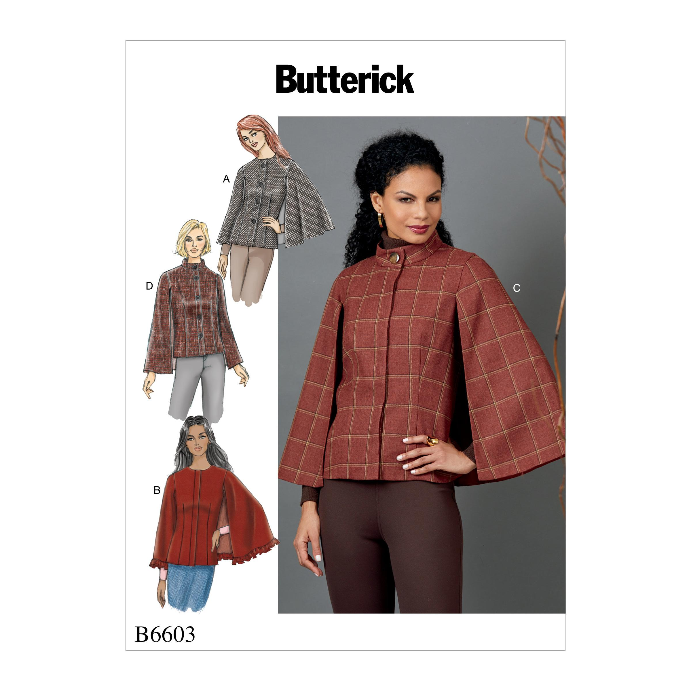 Butterick B6603 Misses' Cape