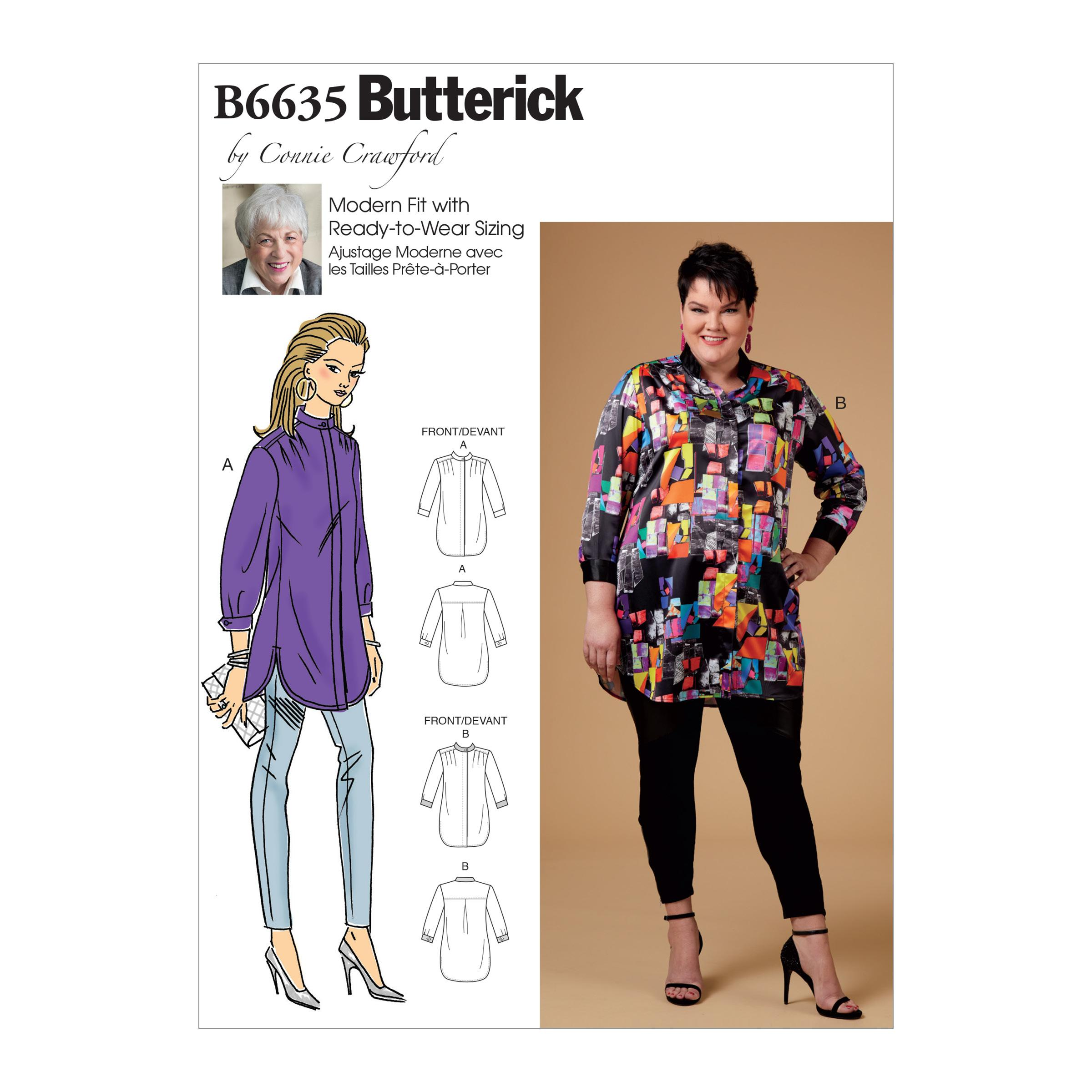Butterick B6635 Misses', Women's Shirt