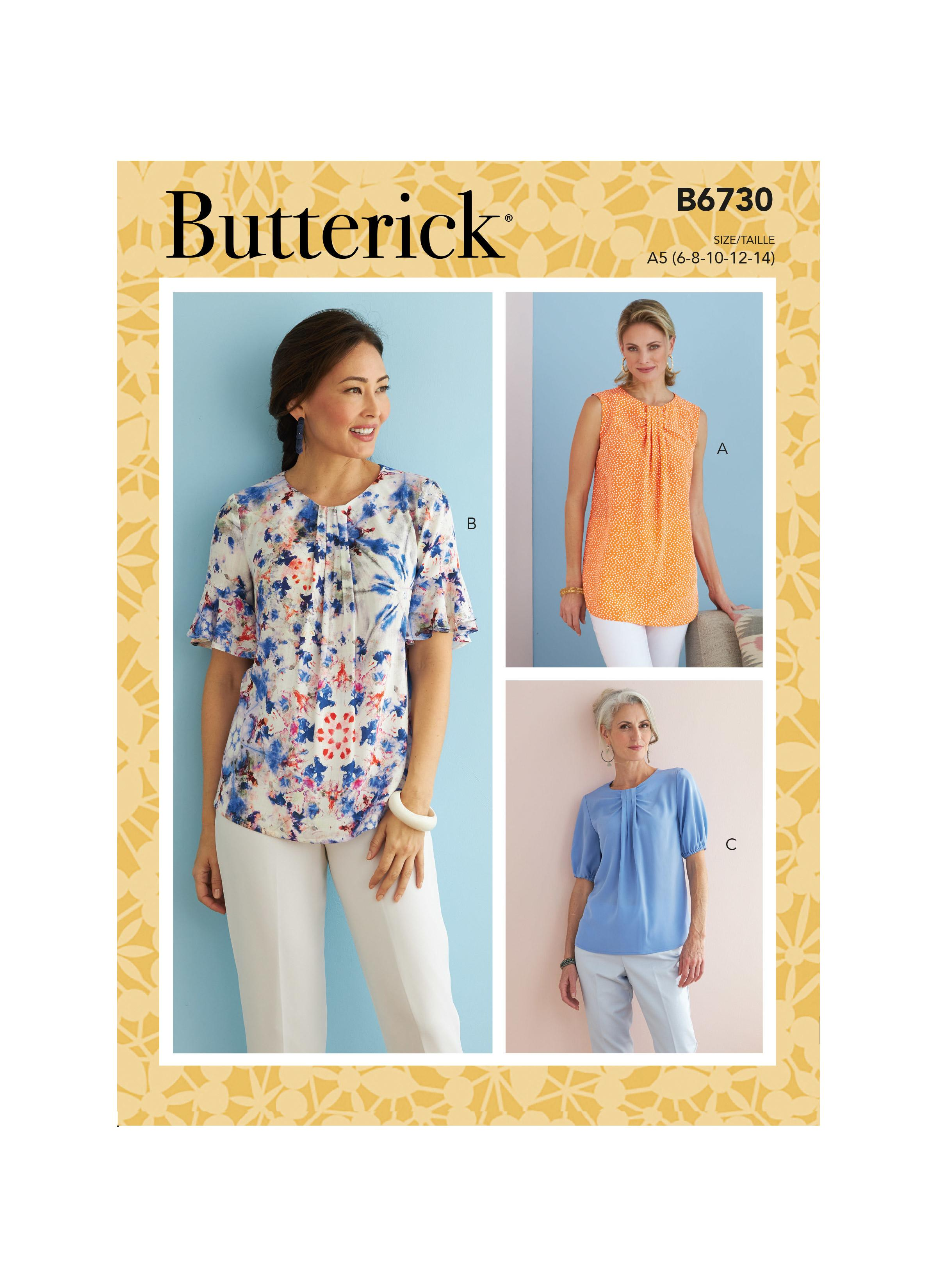 Butterick B6730 Misses' Top