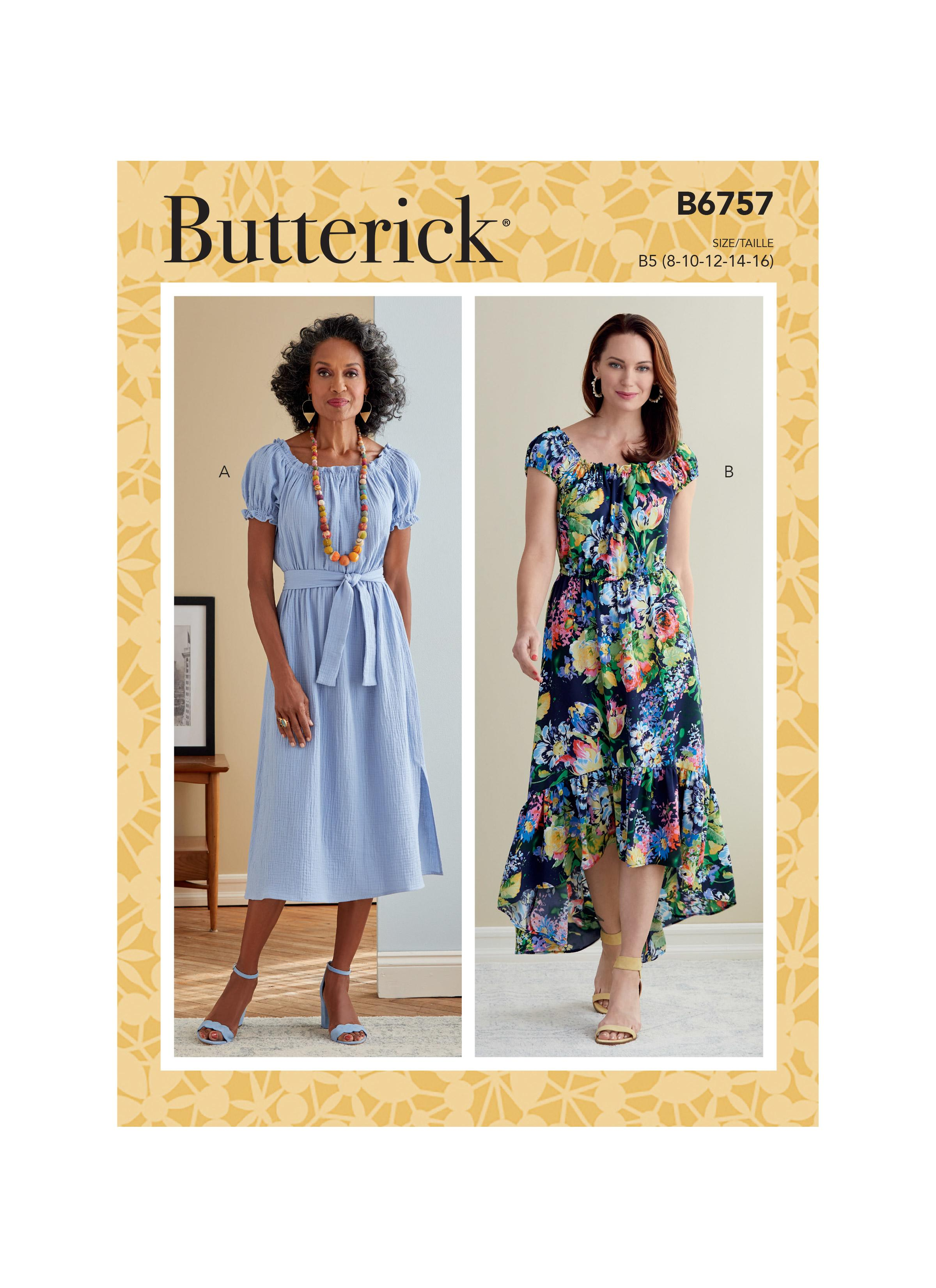 Butterick B6757 Misses' Dress