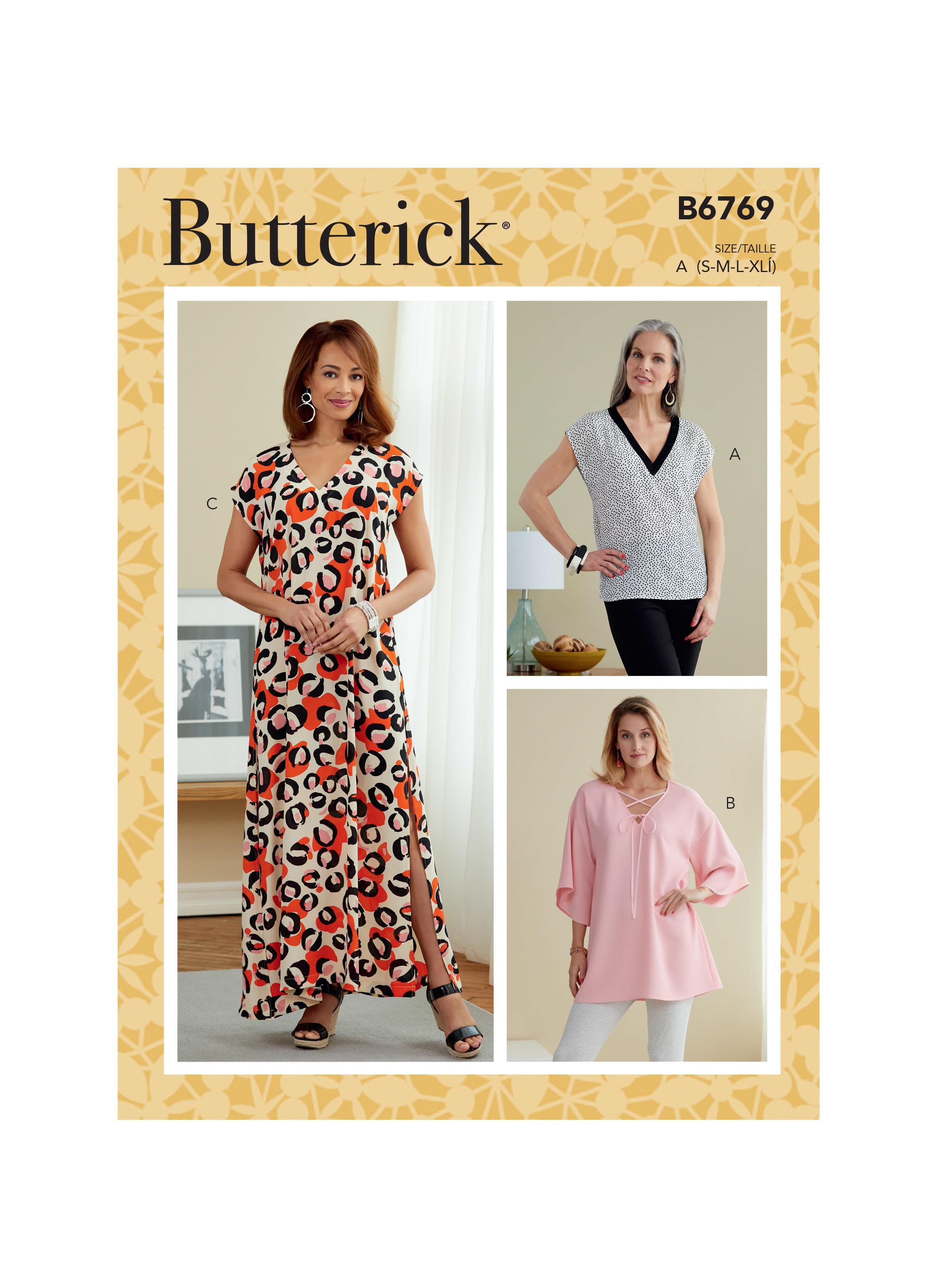 Butterick B6769 Misses' Top, Tunic and Caftan