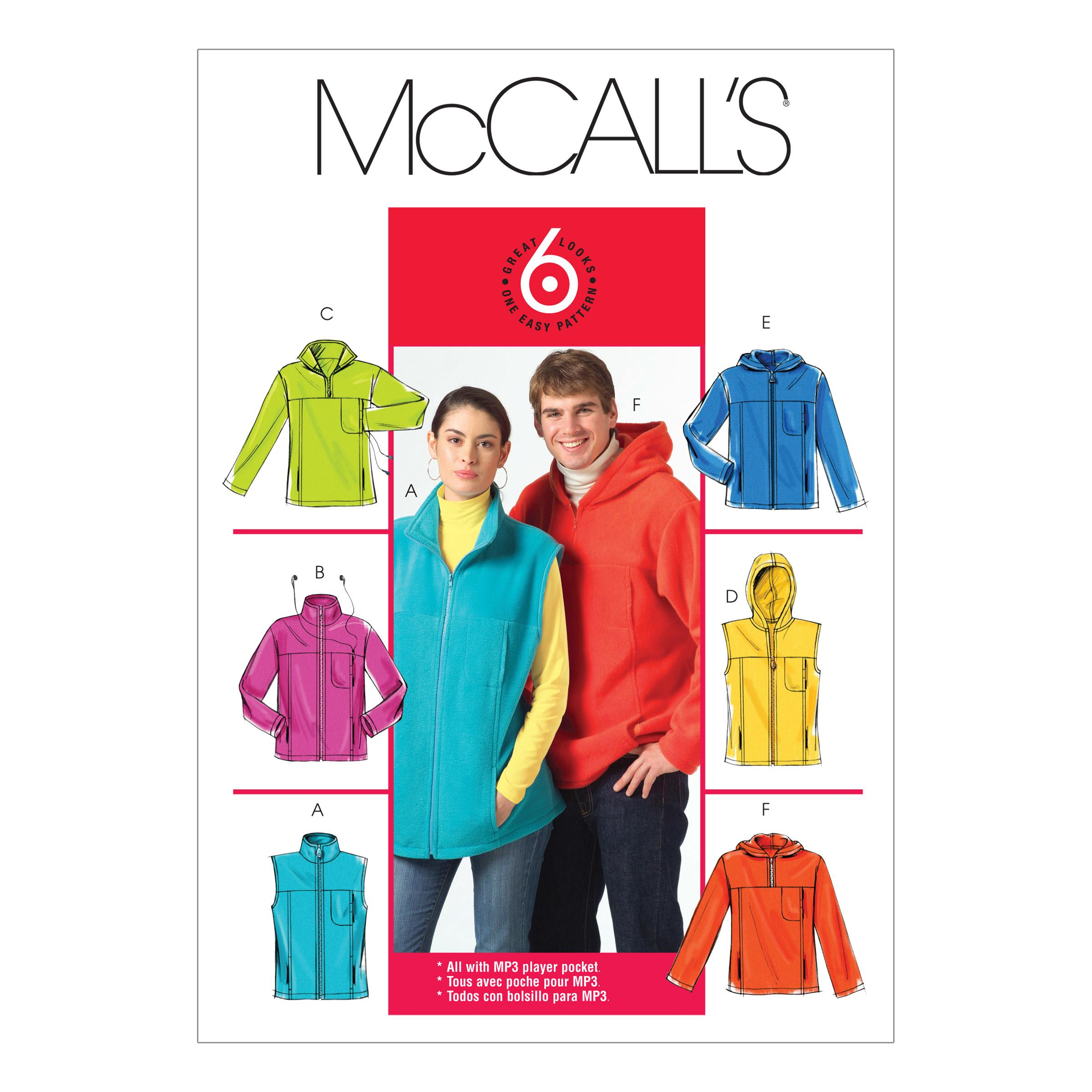 McCalls M5252 Jackets/Vests, Men, Men/Boys, Misses, Misses/Women/Girls, Unisex