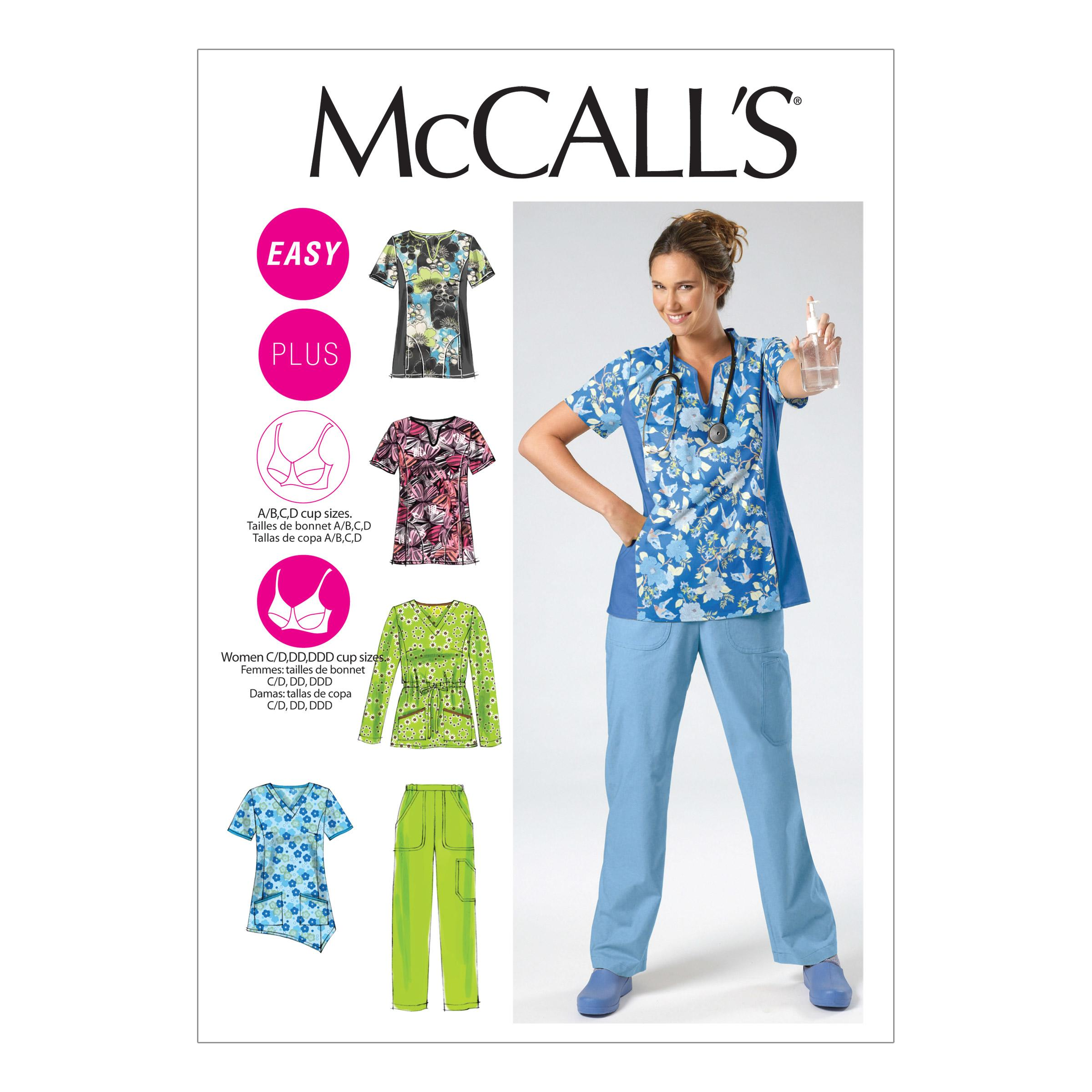 McCalls M6473 A/B, C & D Cup Sizes, Uniforms