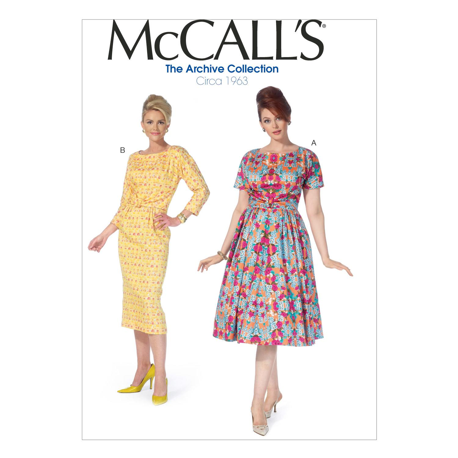 McCalls M7086 Dresses, Plus Size, The Archive Collection