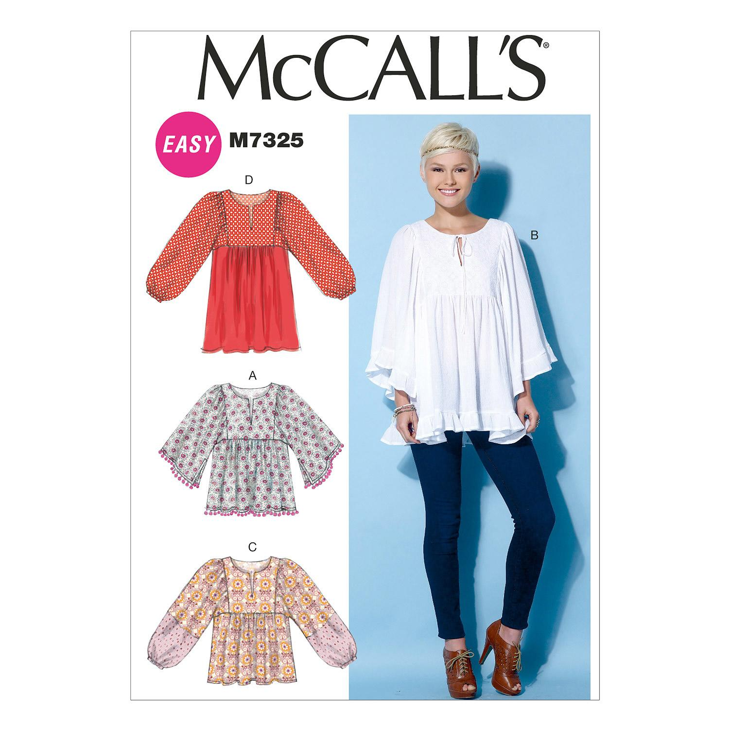 McCalls M7325 Tops/Tunics