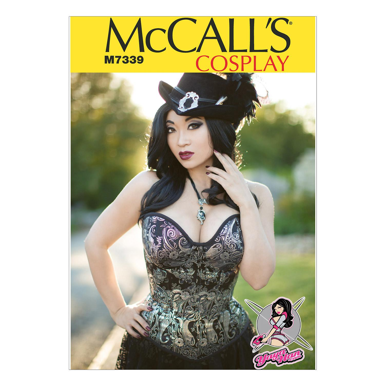 McCalls M7339 A/B, C & D Cup Sizes, Corsets, Costumes