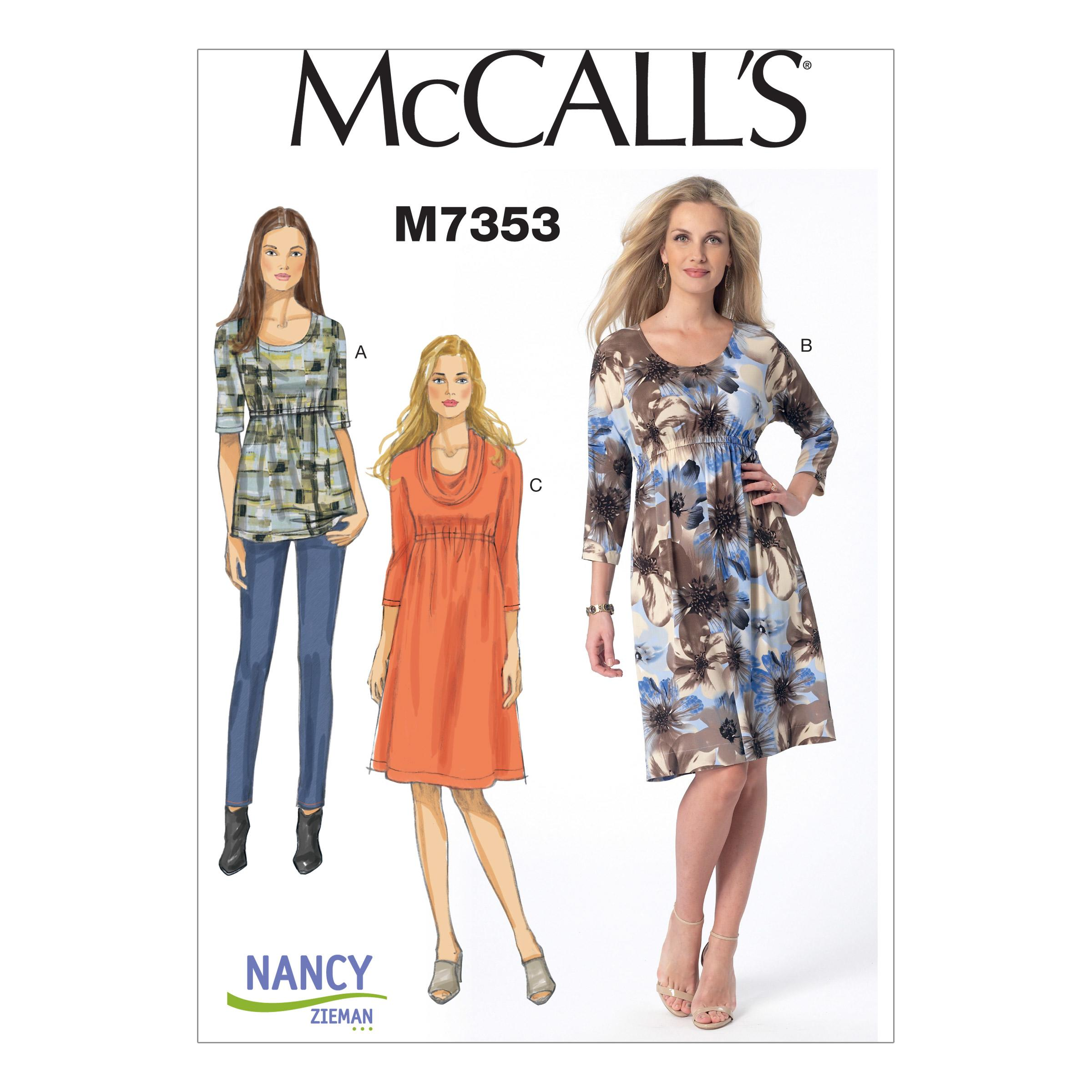 McCalls M7353 Dresses, Tops/Tunics