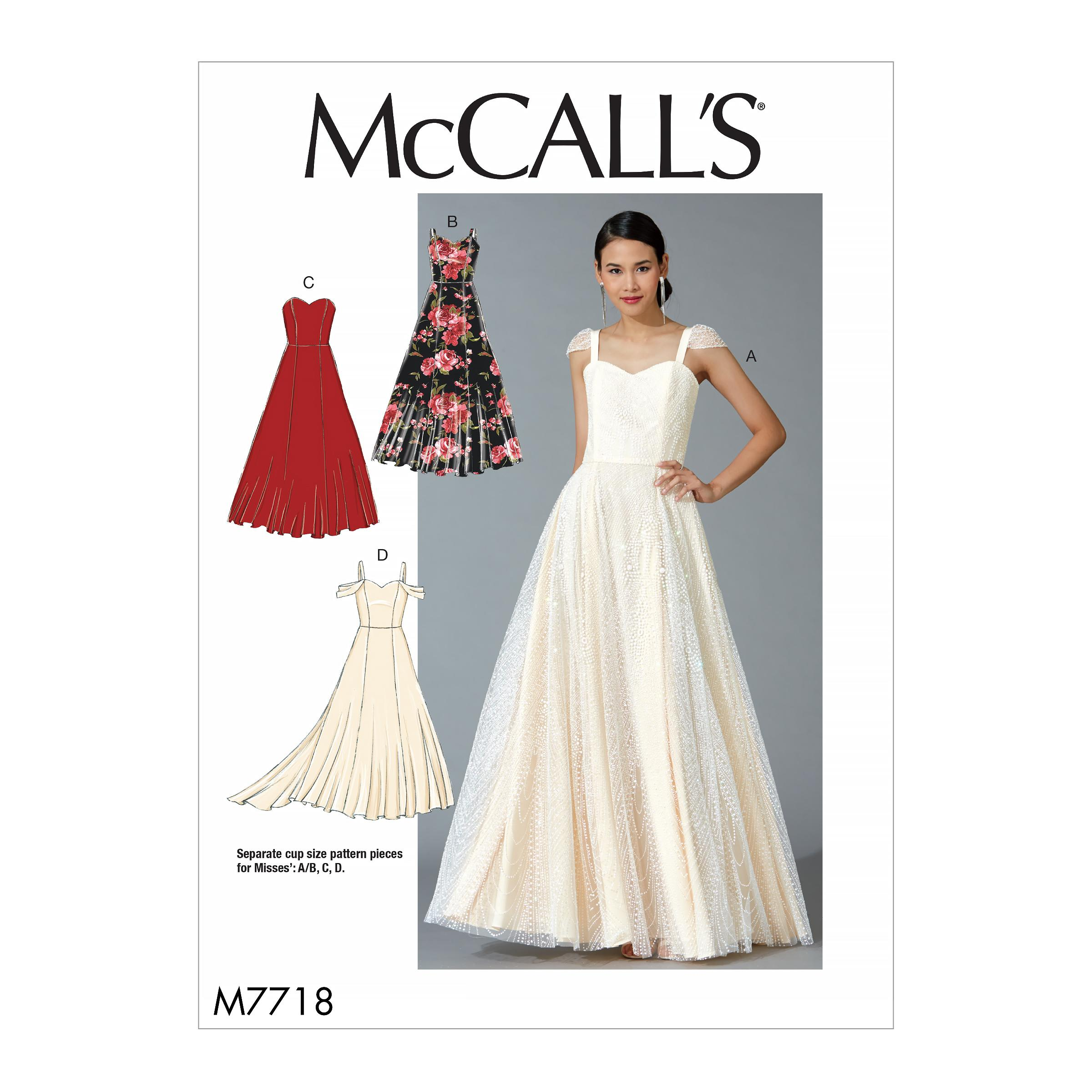 McCalls M7718 Misses Dresses, Misses Prom, Evening & Bridal
