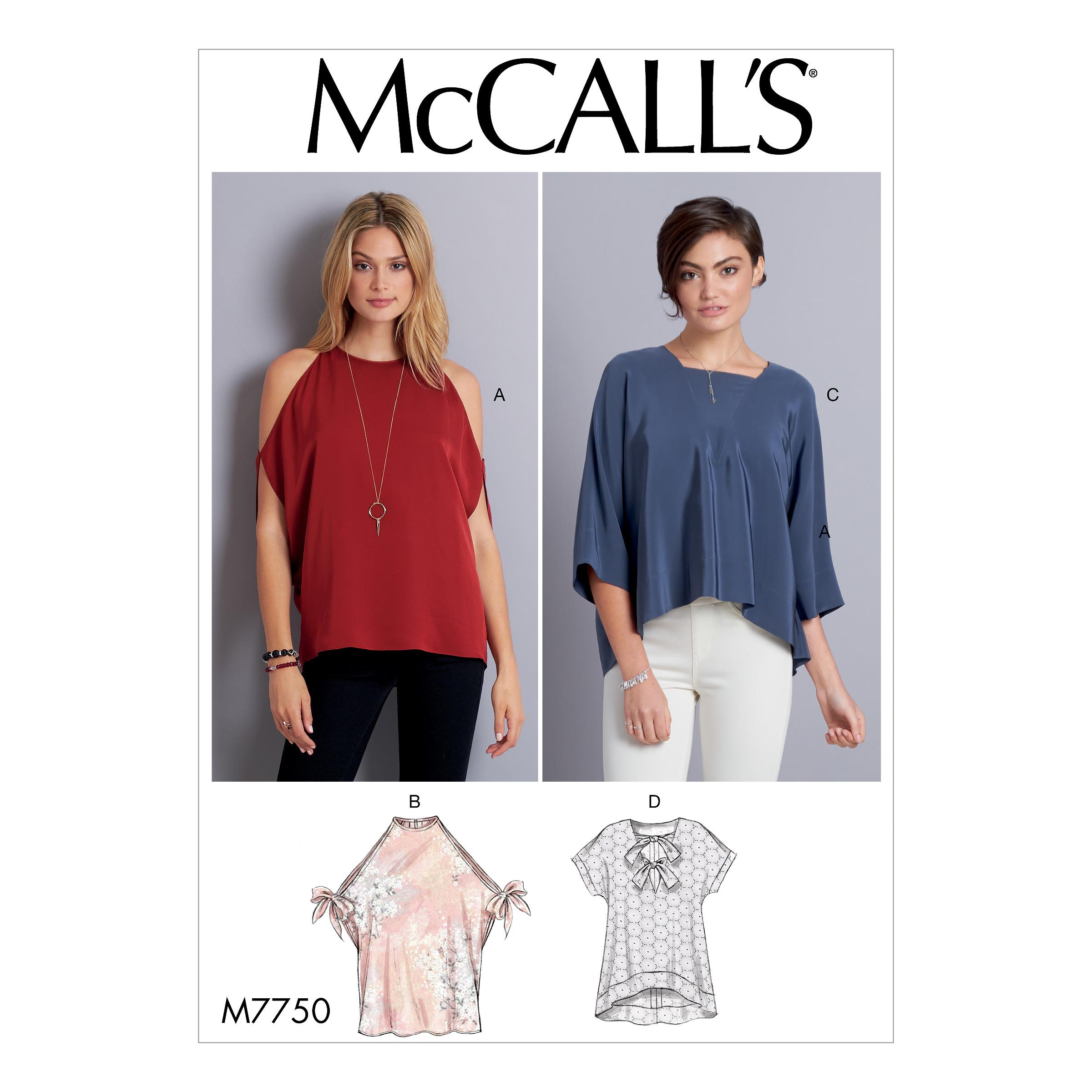 McCalls M7750 Misses Tops