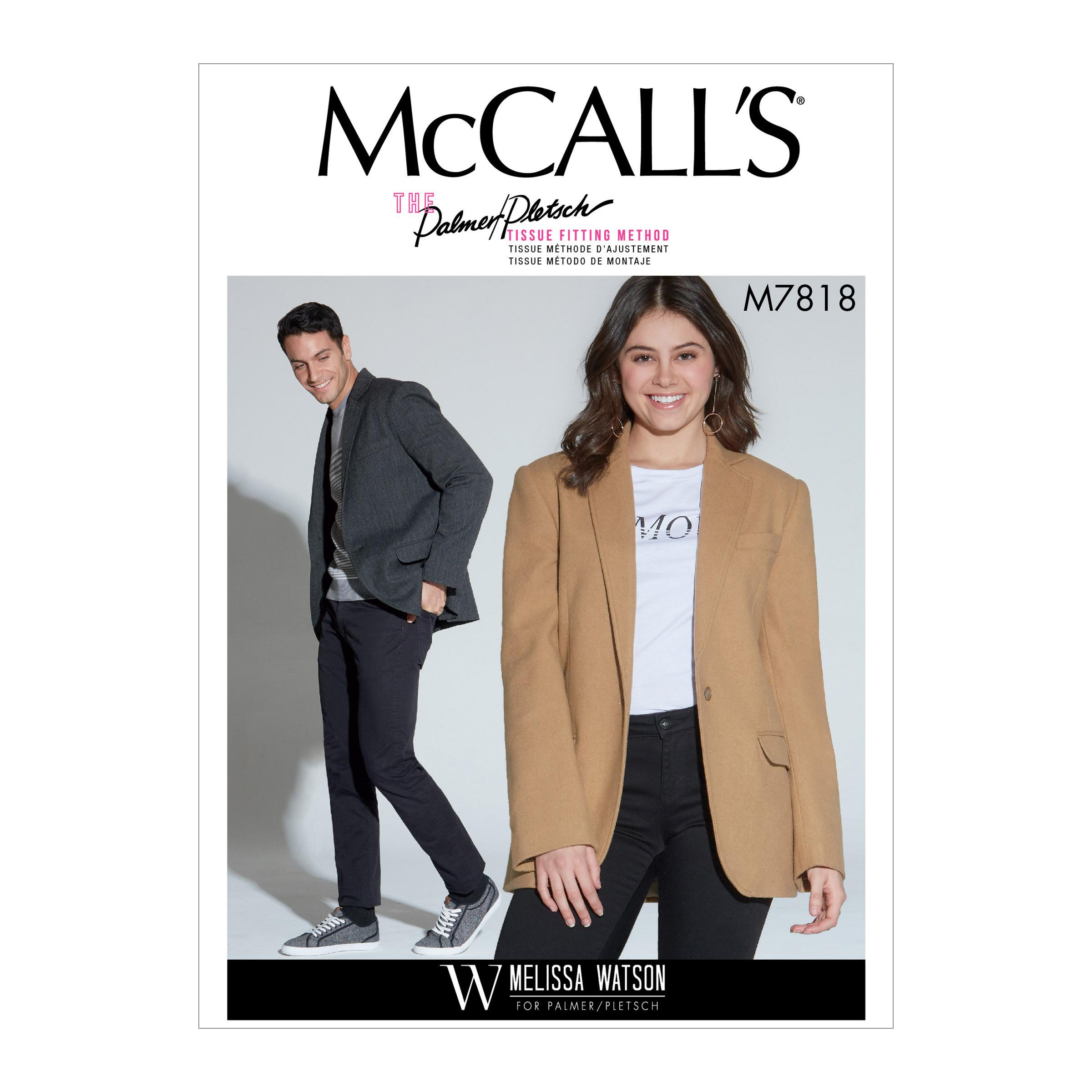 McCalls M7818 Misses Jackets & Vests