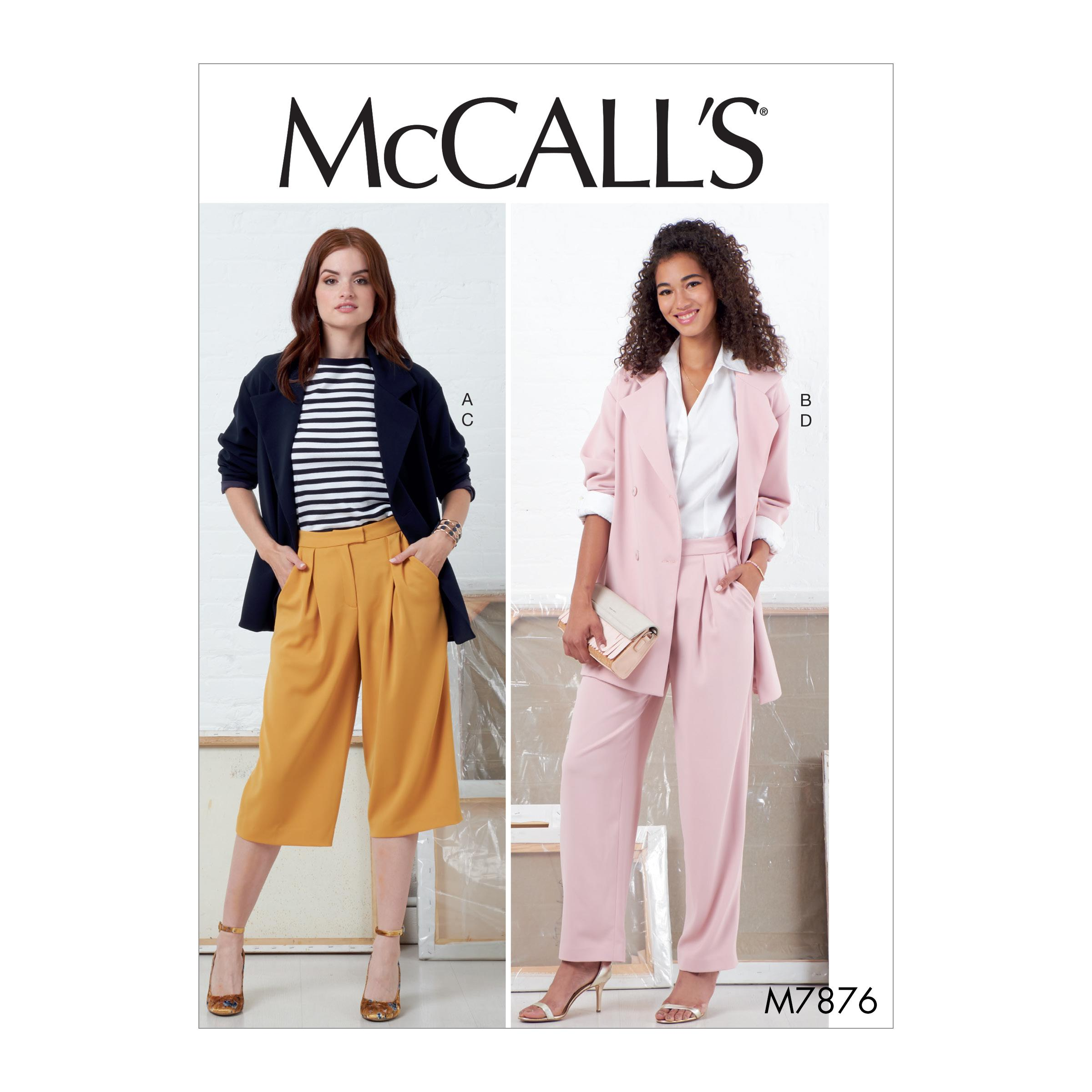 McCalls M7876 Misses Jackets & Vests, Misses Pants, Jumpsuits & Shorts, Misses Coordinates