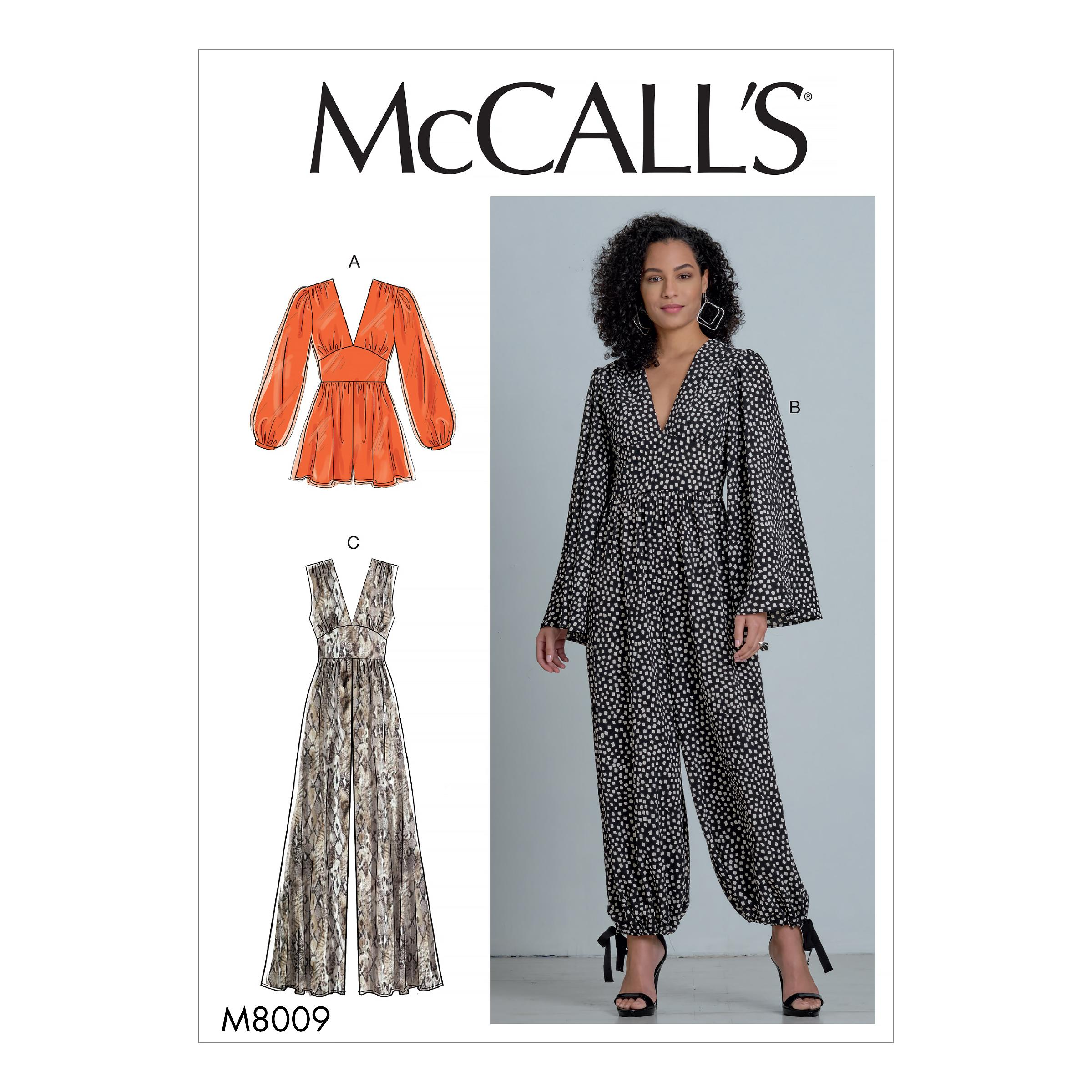 McCalls M8009 Misses Pants, Jumpsuits & Shorts