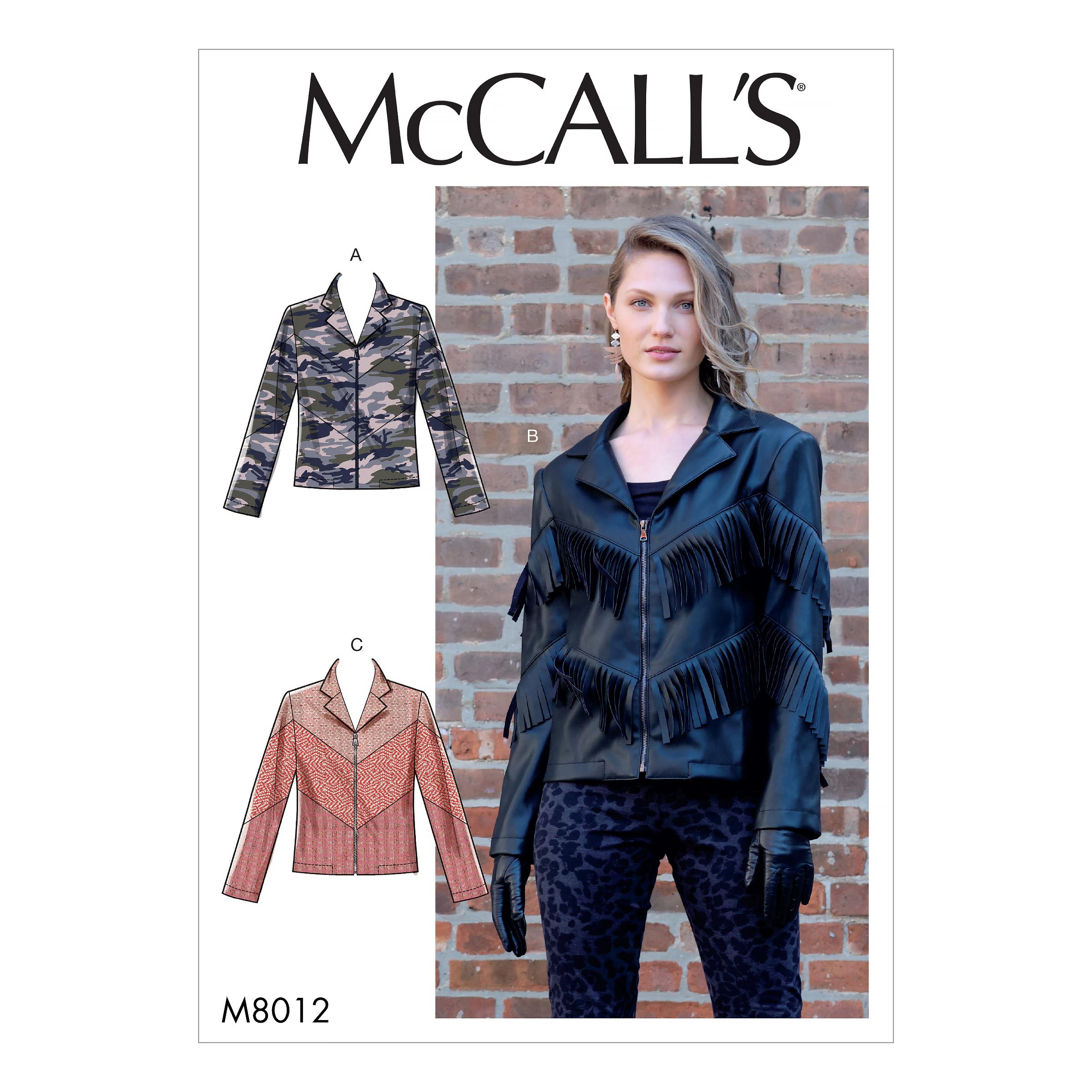 McCalls M8012 Misses Jackets & Vests