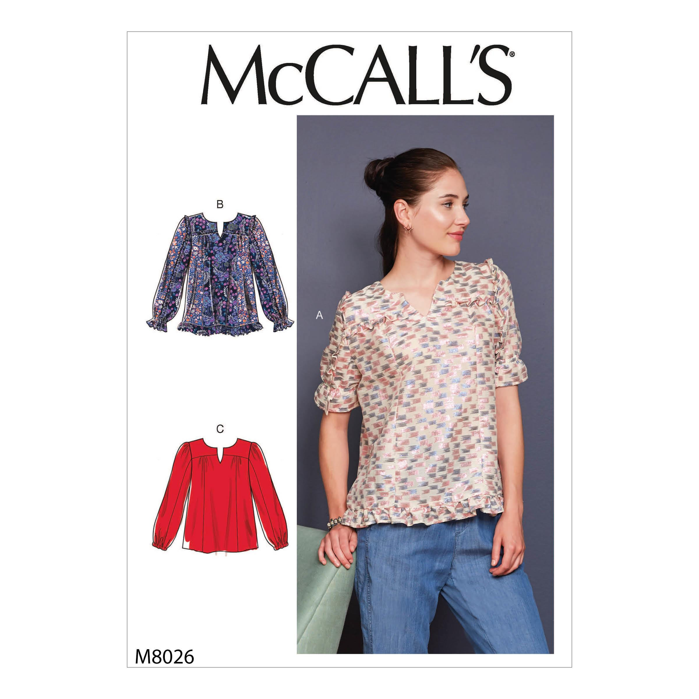 McCalls M8026 Misses Tops