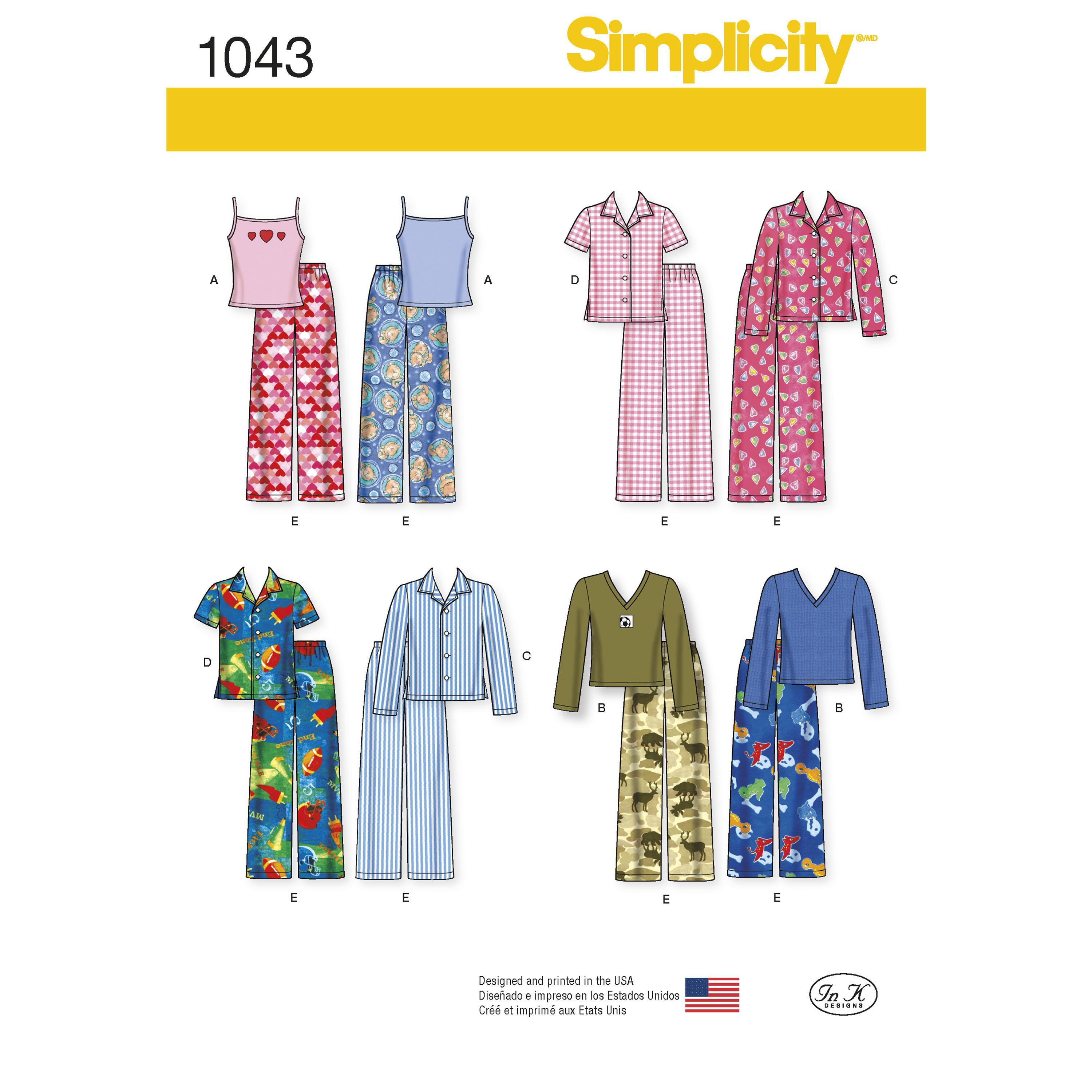 Simplicity S1043 Child's, Girls' and Boys' Separates
