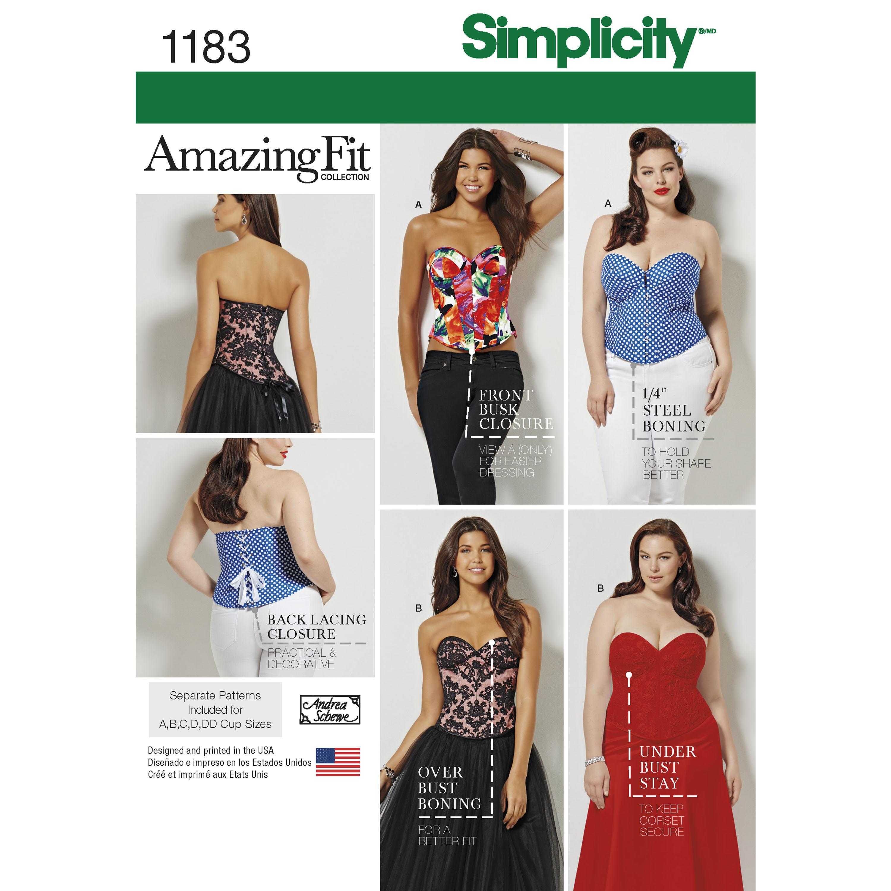 Simplicity S1183 Women's and Plus Size Corsets