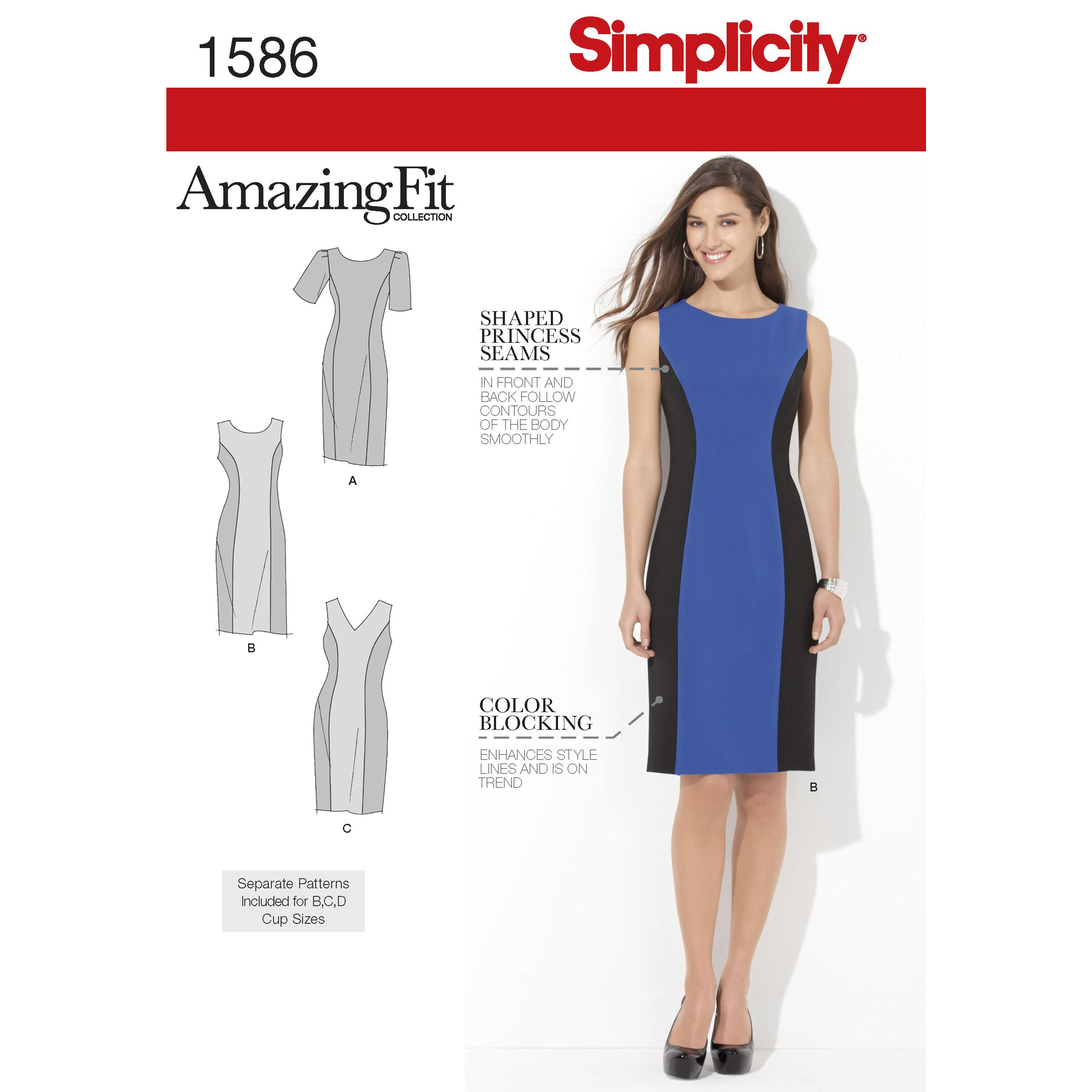 Simplicity S1586 Women's and Plus Size Amazing Fit Dress