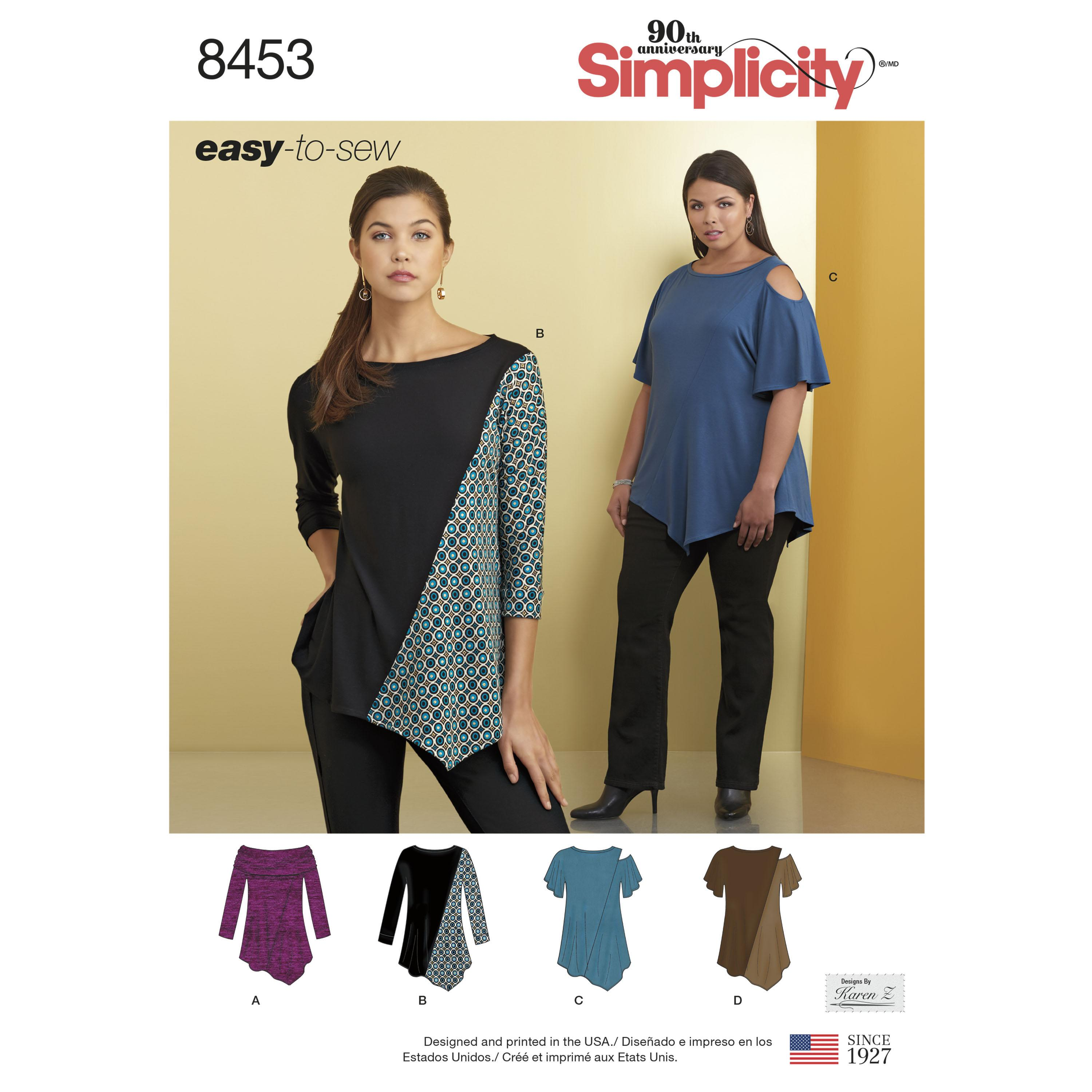 Simplicity S8453 Womens Knit Tops