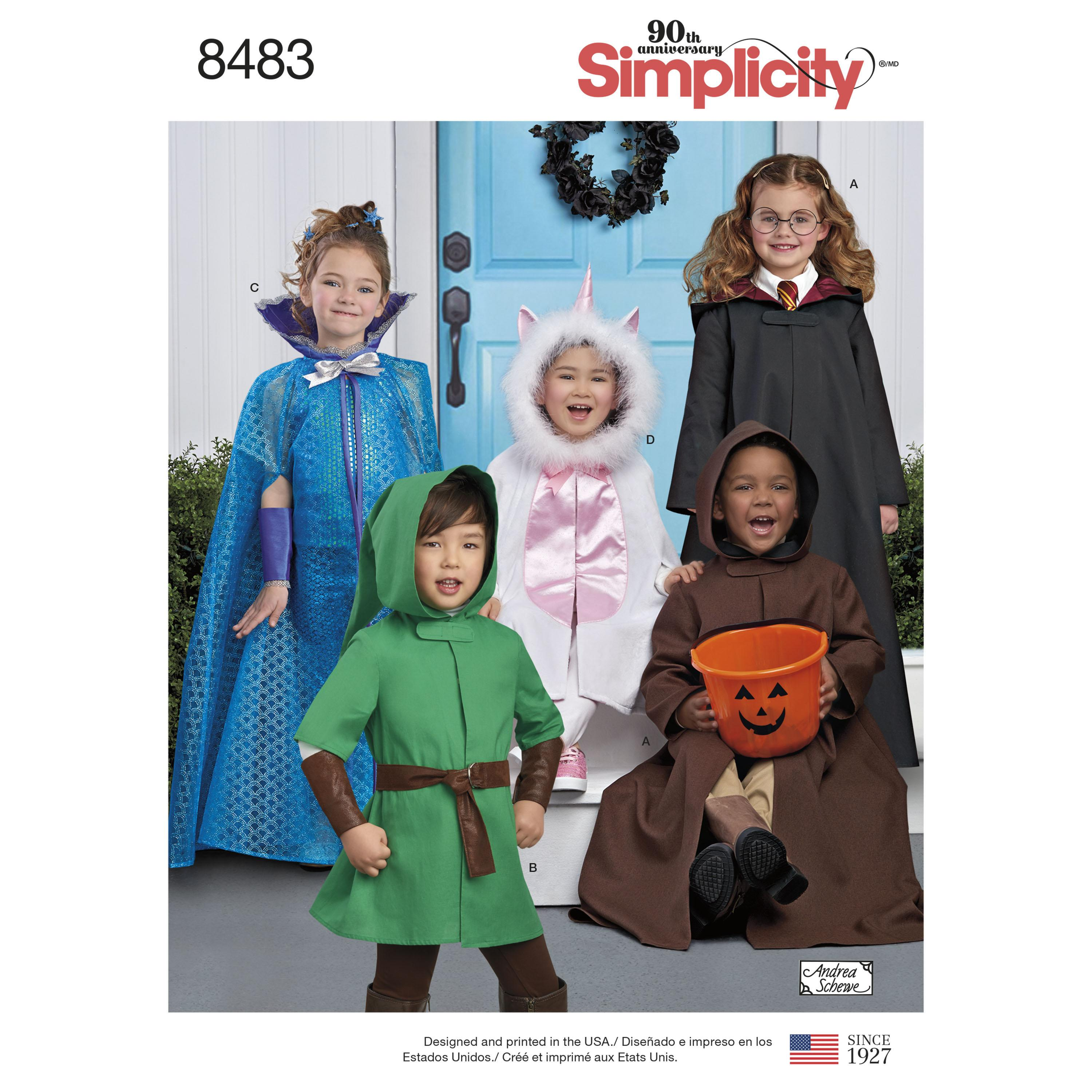 Simplicity S8483 Child's Cape Costumes