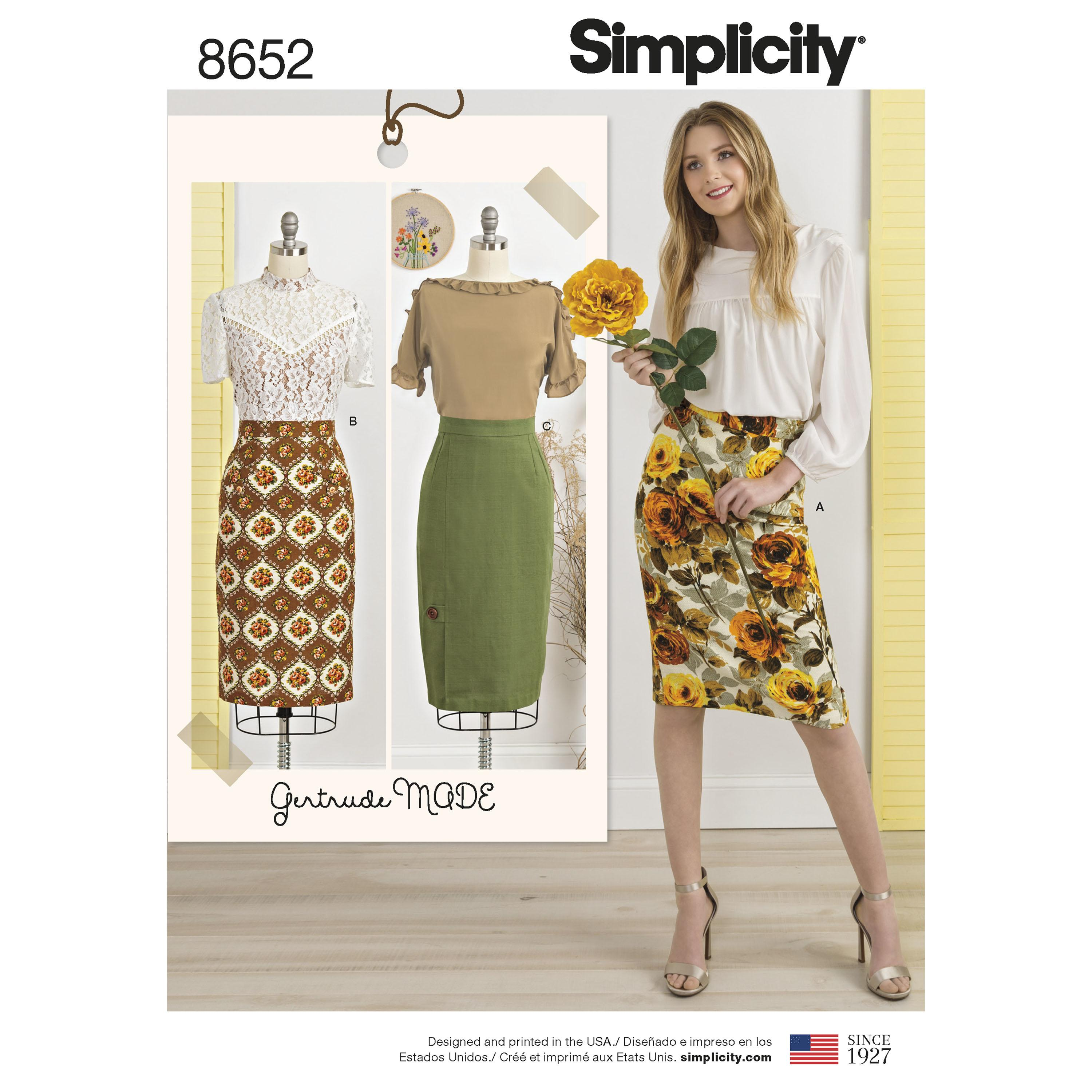 Simplicity S8652 Womens Skirts