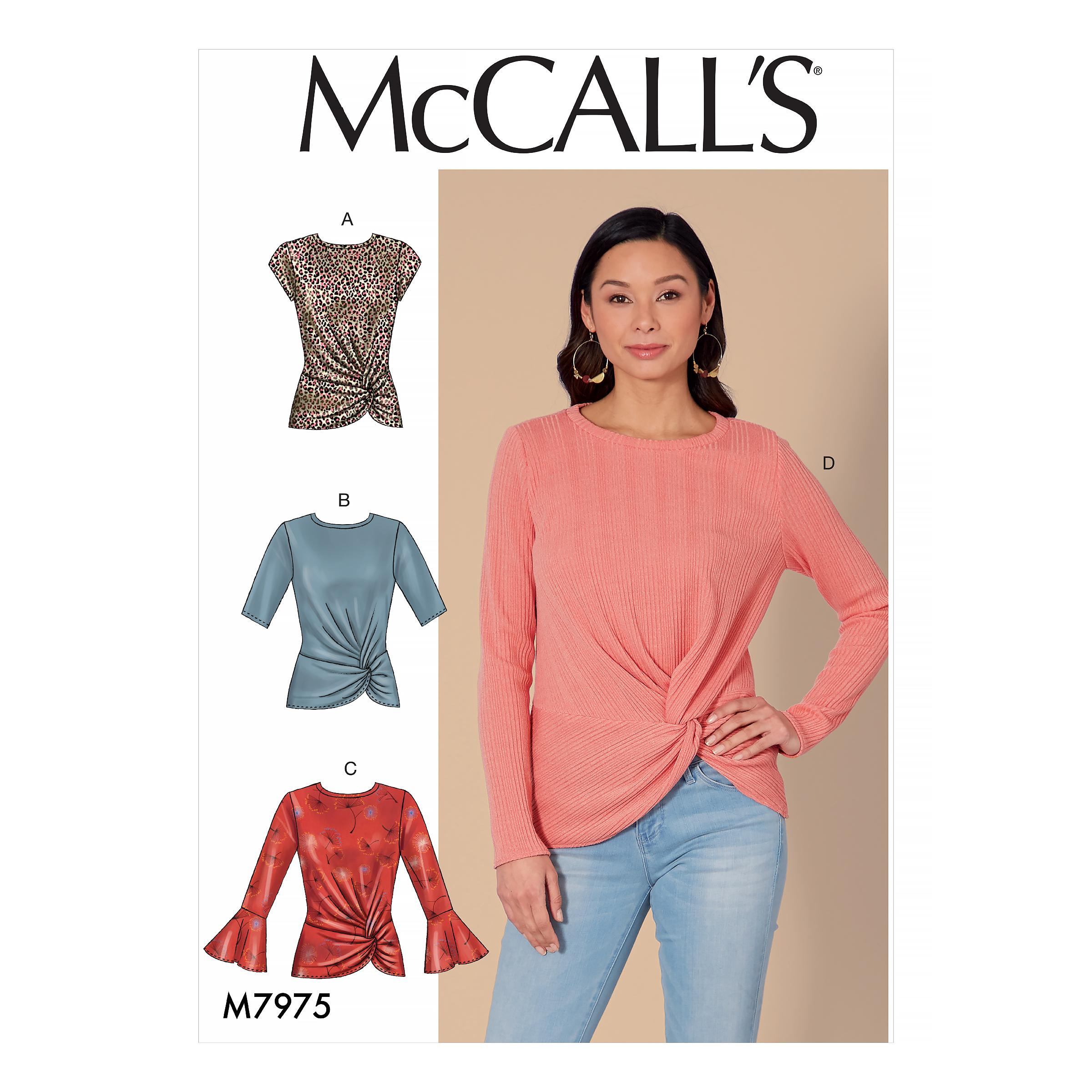 McCalls M7975 Misses Tops