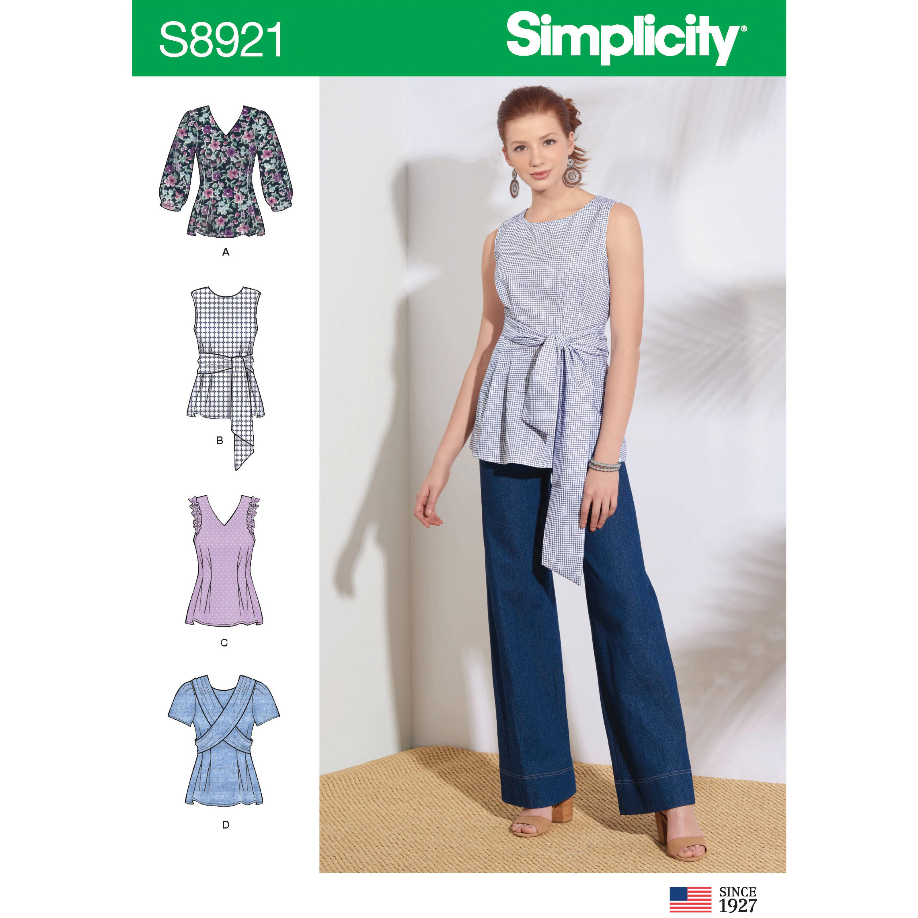 Simplicity S8921 Misses' Tops
