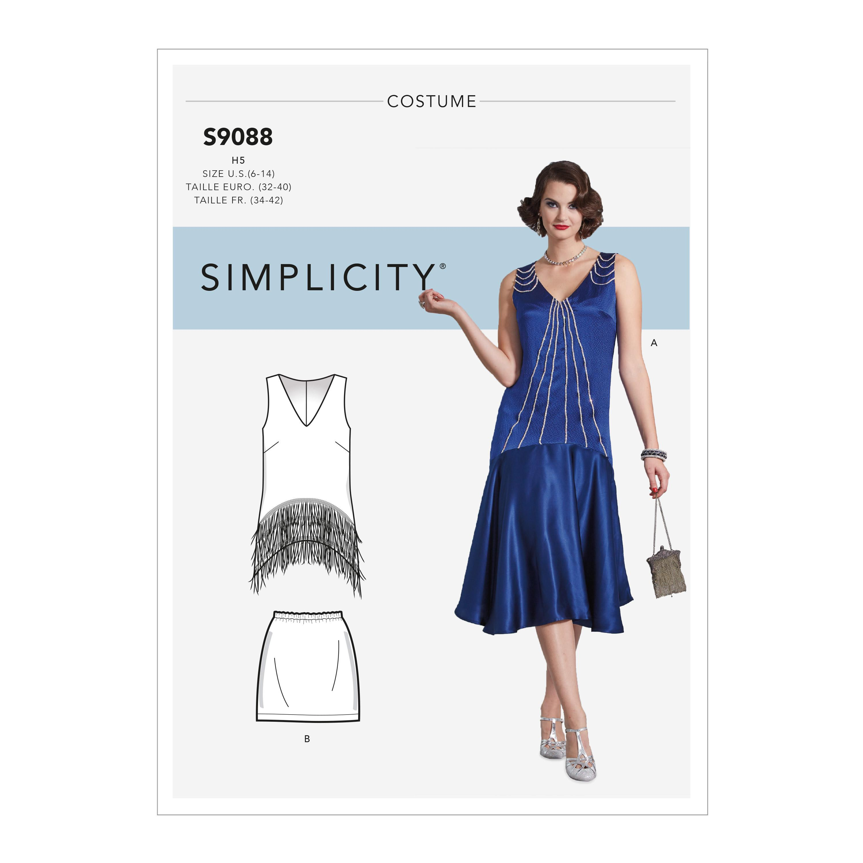 Simplicity S9088 Misses' Flapper Costumes