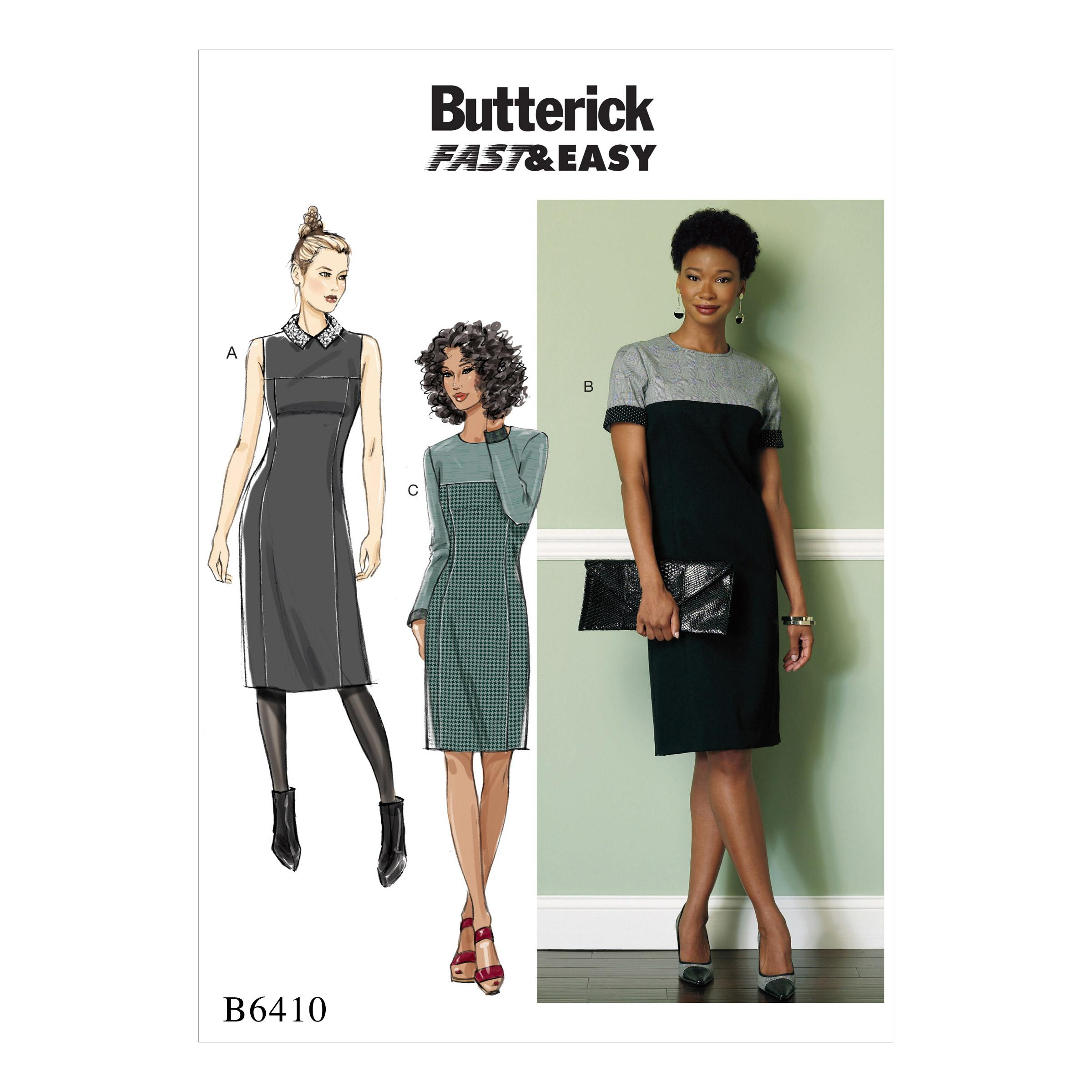 Butterick B6410 Misses'/Miss Petite Paneled Dresses with Yokes