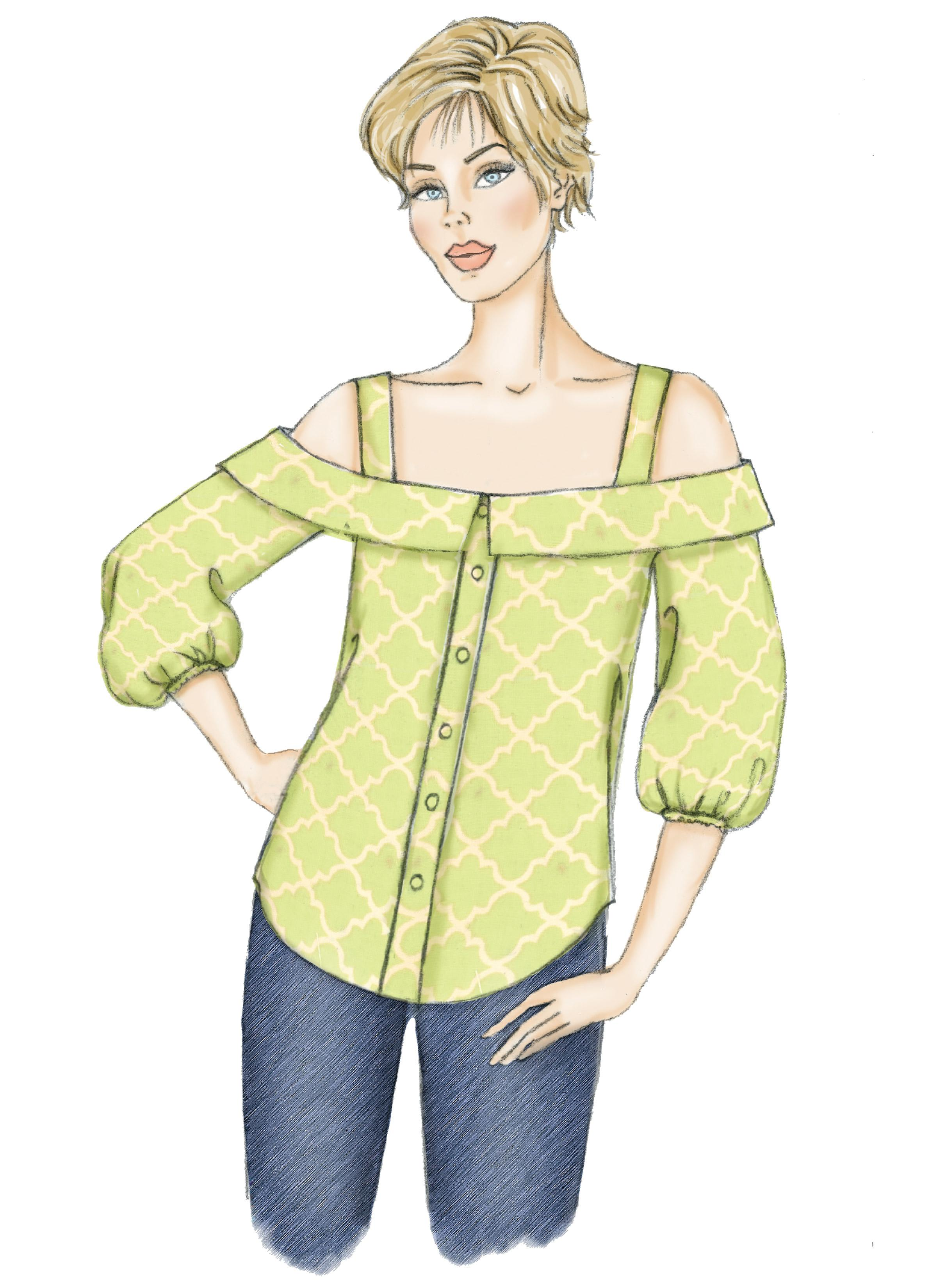 Butterick B6562 Misses' Top