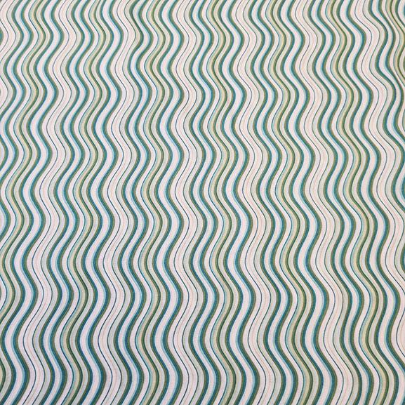 Green Wavy Lines Cotton Lawn