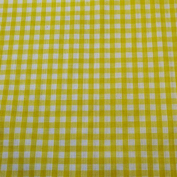 "1/4"" Gingham Polycotton Yellow"