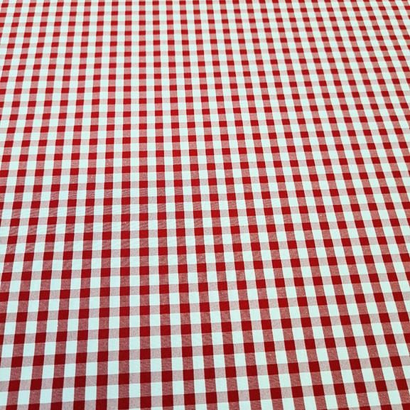 Red Checked Poplin
