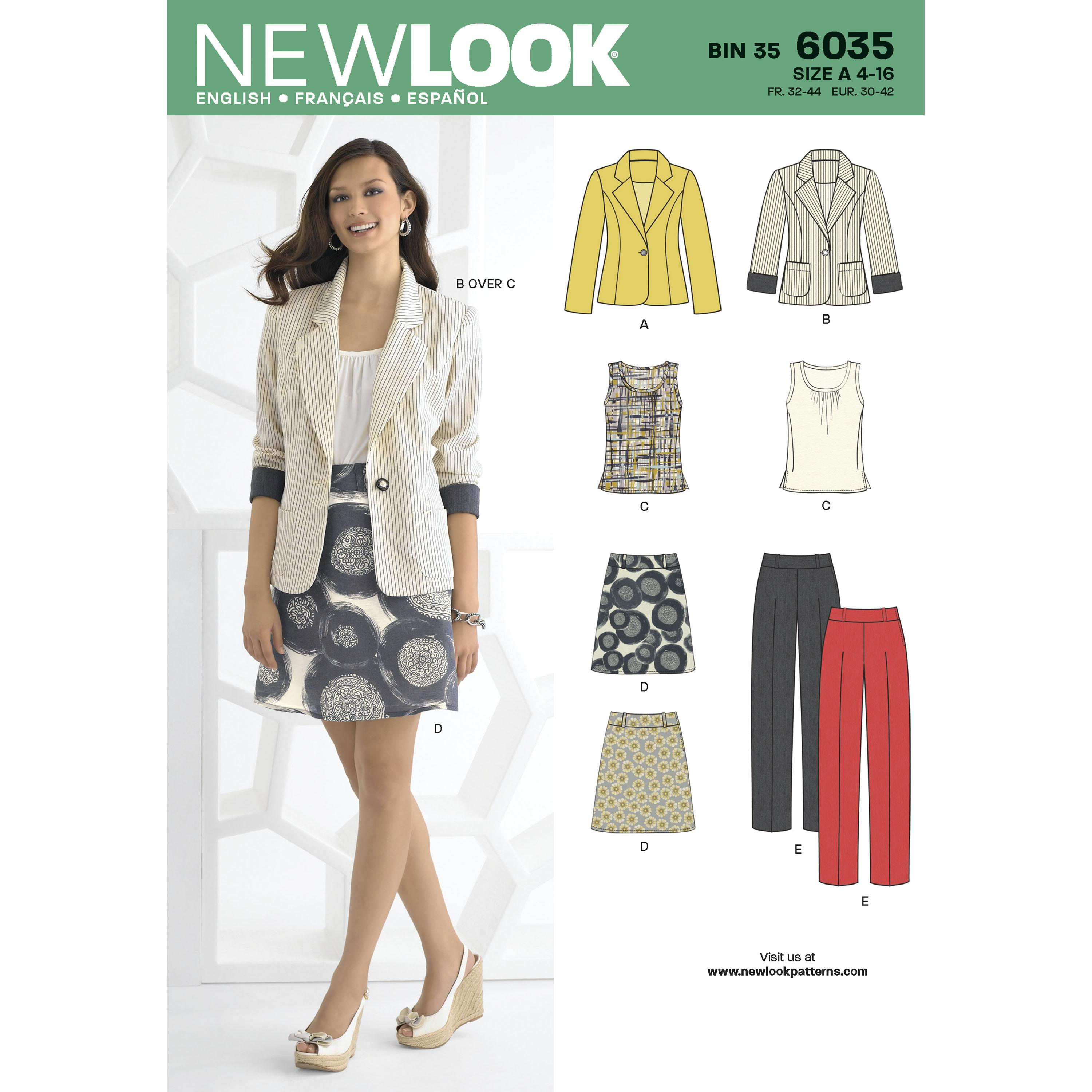 NewLook N6035 Misses' Separates