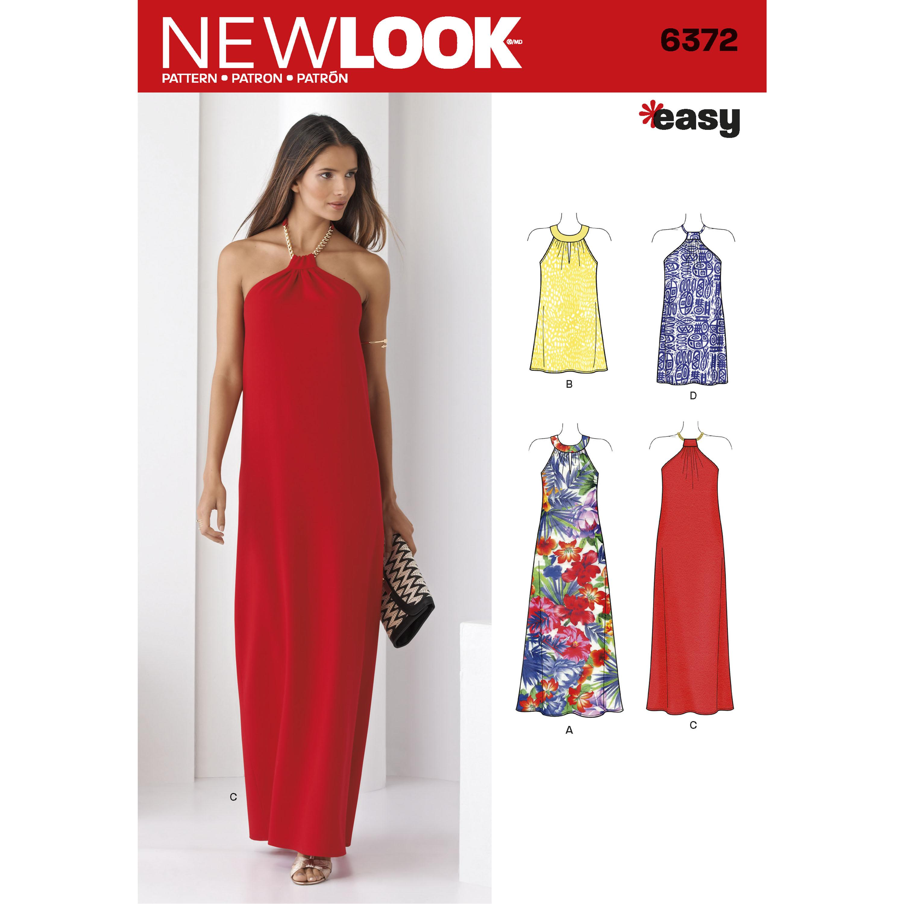 NewLook N6372 Misses' Dresses Each in Two Lengths