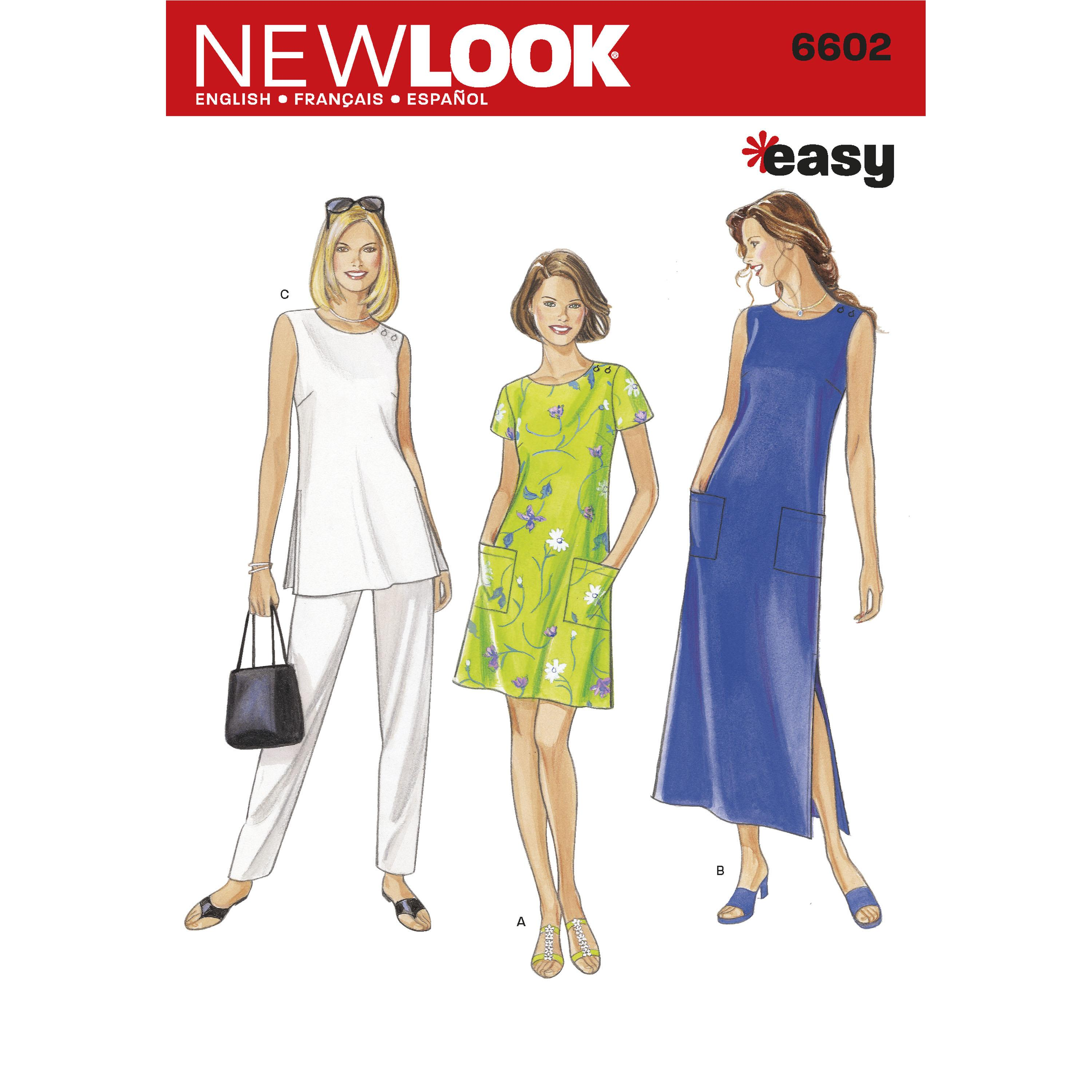 NewLook N6602 Misses Dresses