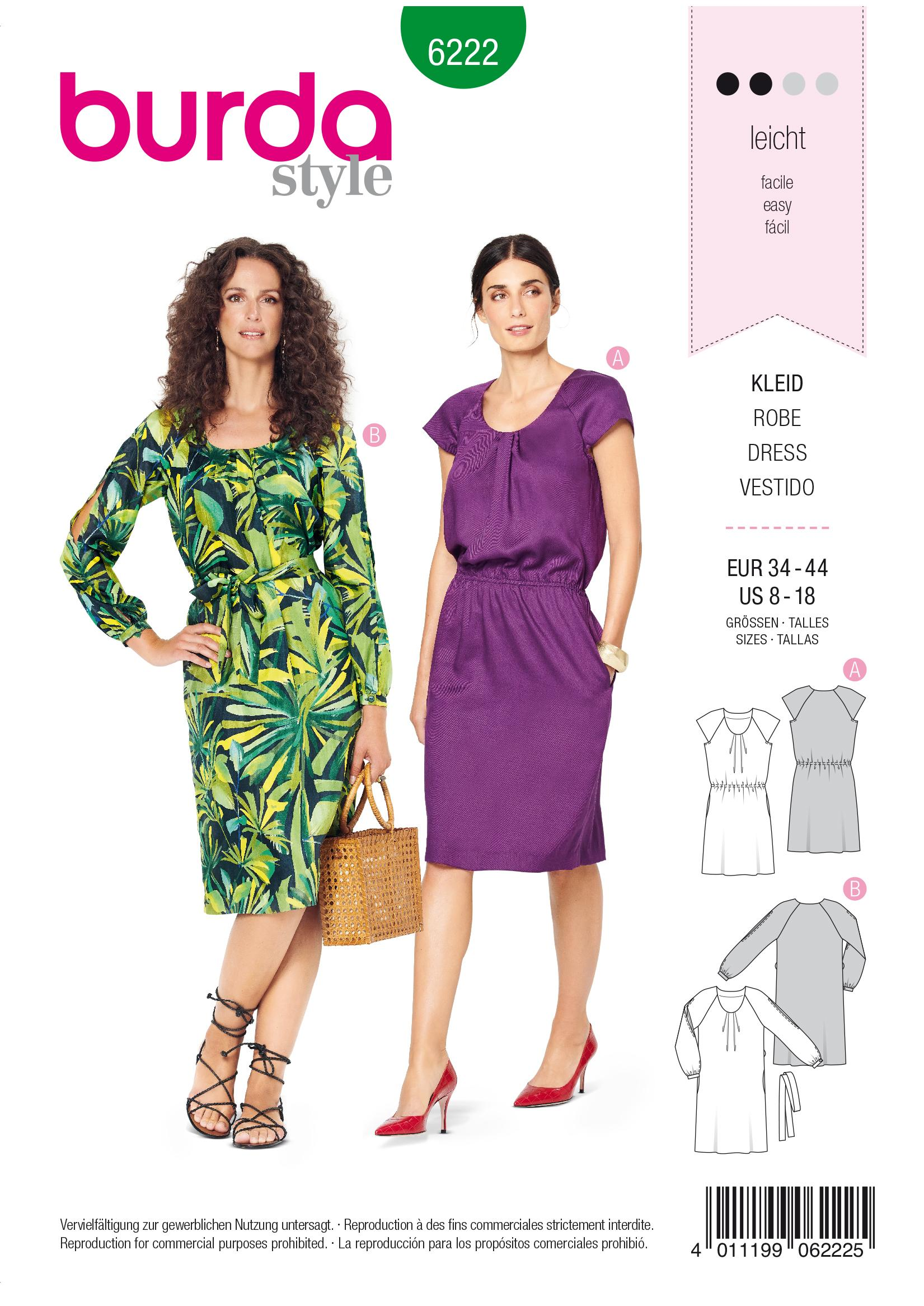 Burda B6222 Dress Sewing Pattern