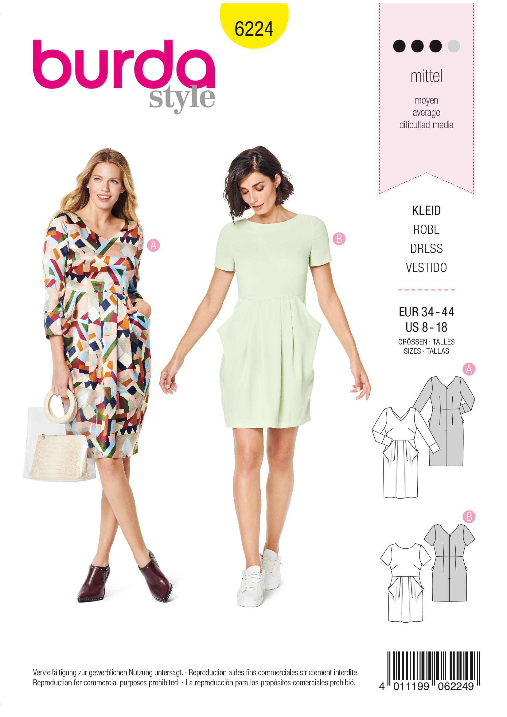 Burda B6224 Dress Sewing Pattern