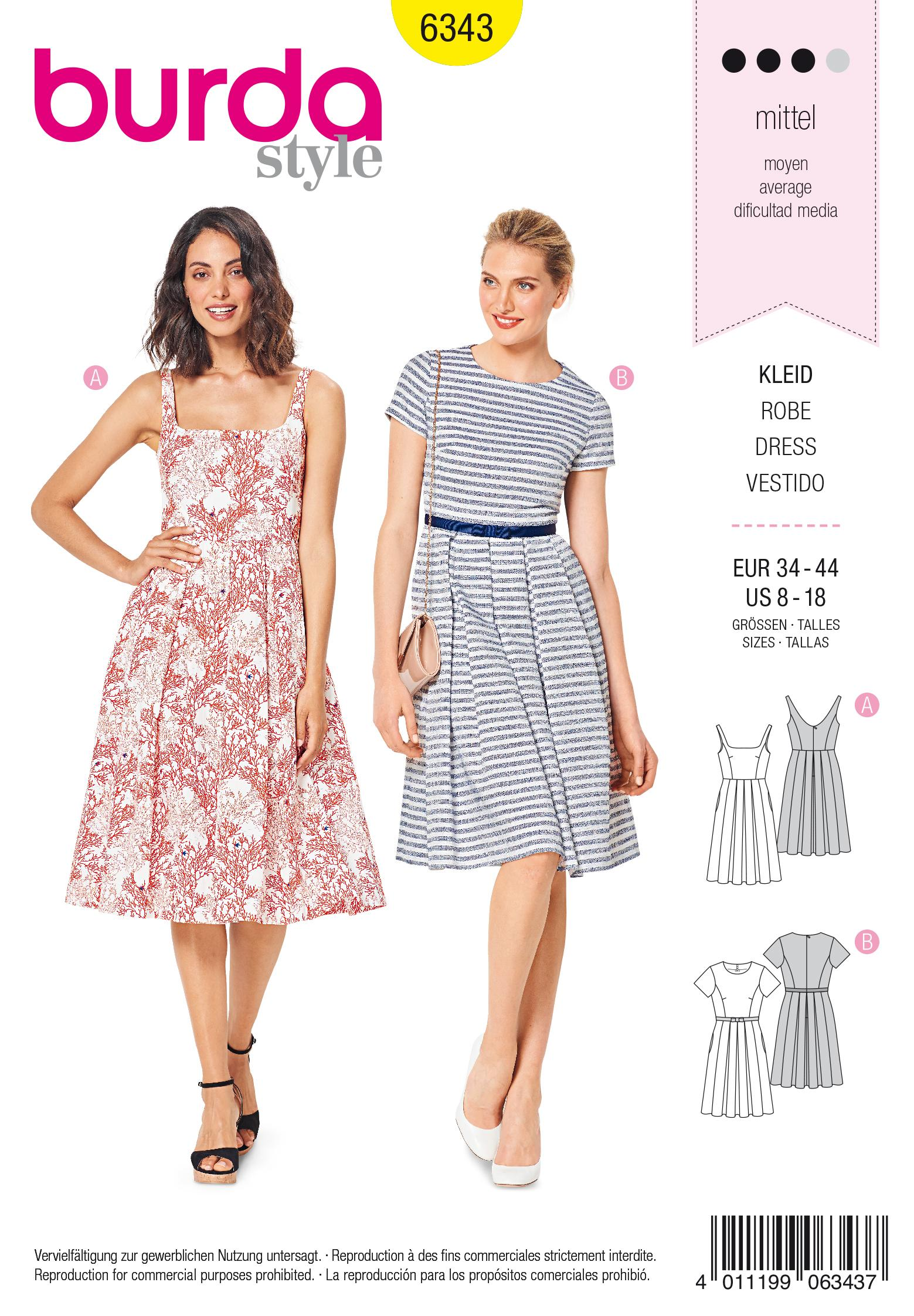 Burda 6343 Misses' pinafore dress