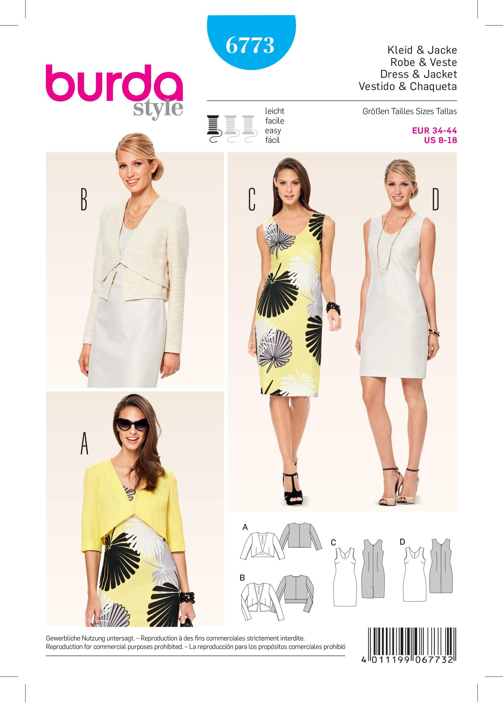 Burda B6773 Coordinates, Trousersuits, Suits Sewing Pattern