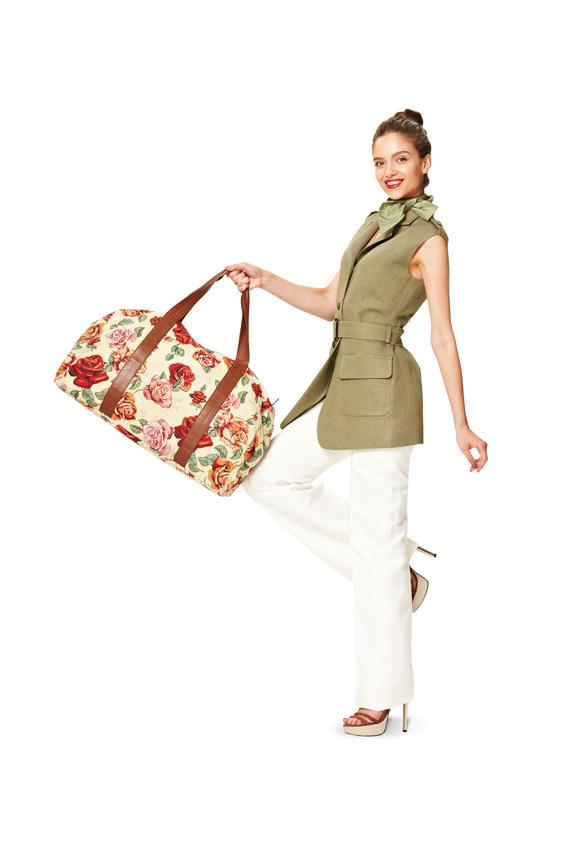 Burda B7119 Travel Bags Sewing Pattern