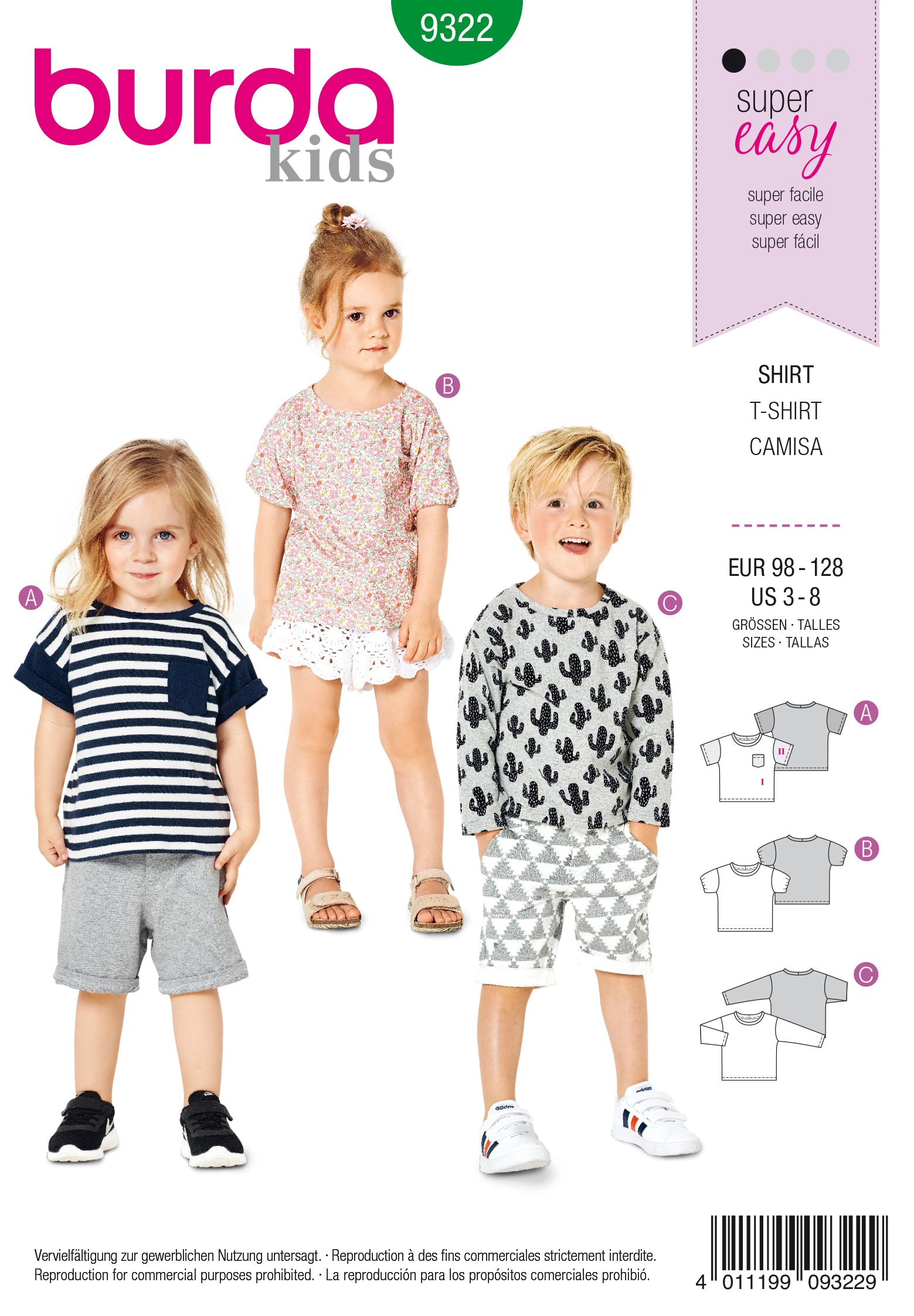 Burda 9322 Child's top