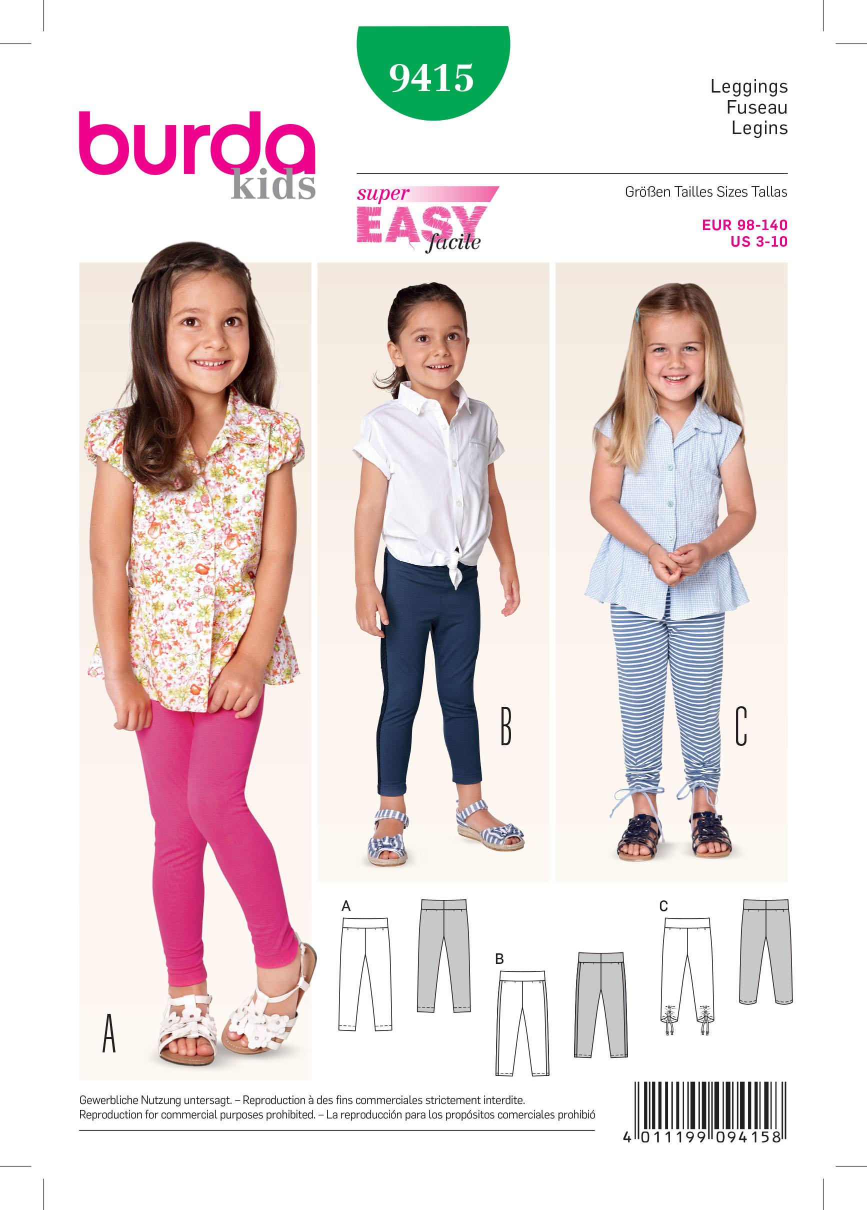 Burda B9415 Toddlers Sewing Pattern