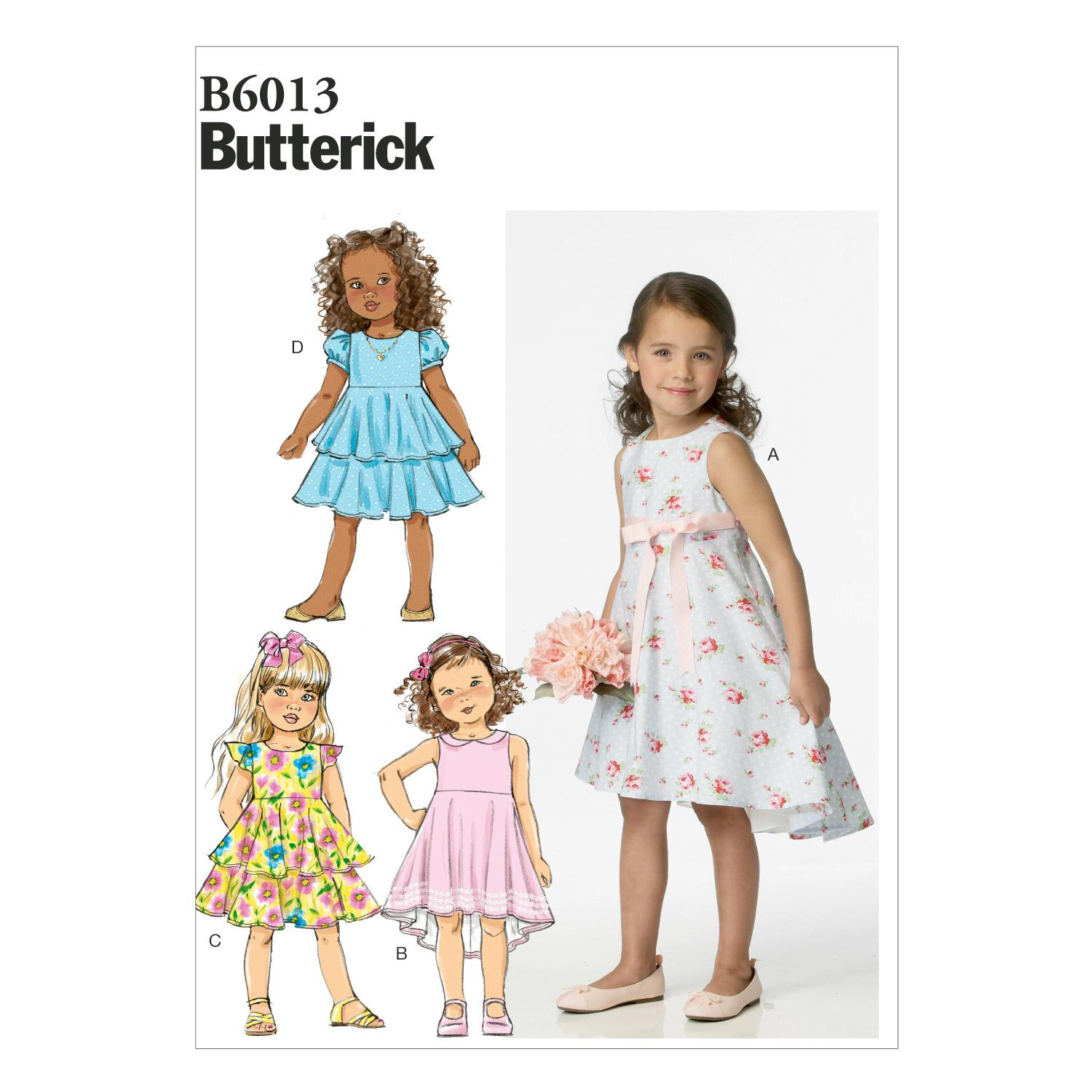 Butterick B6013 Children's/Girls' Dress
