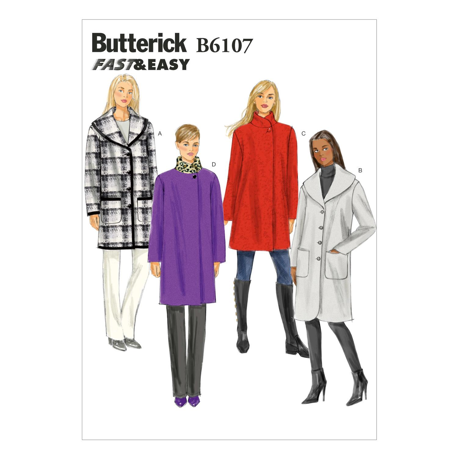 Butterick B6107 Misses' Coat