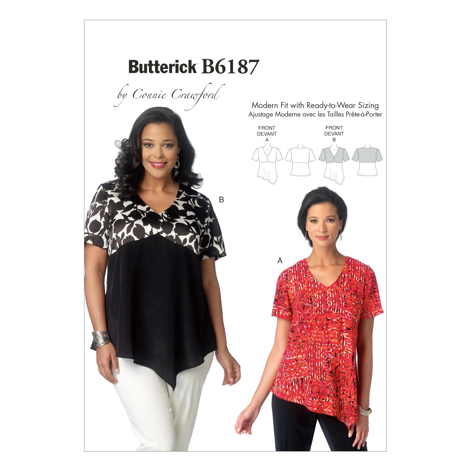 Butterick B6187 Misses'/Women's Top