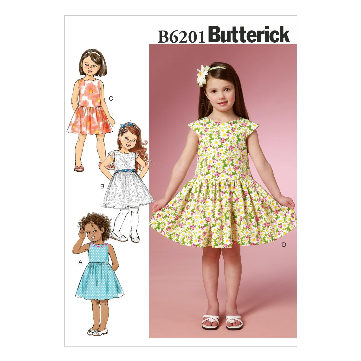 Butterick B6201 Children's/Girls' Dress